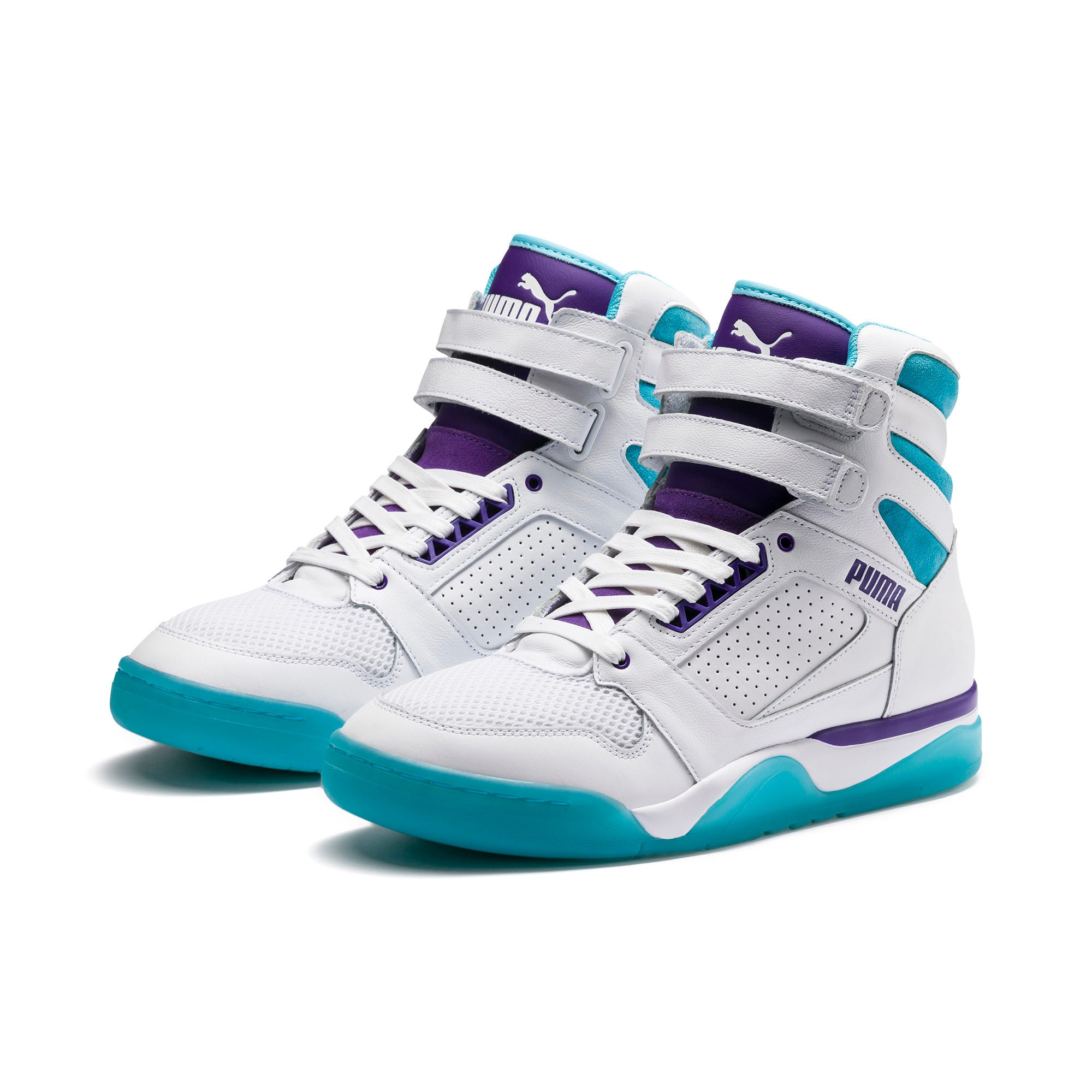 Thumbnail 2 of Palace Guard Mid Queen City Sneakers, Puma White-Blue Atoll, medium