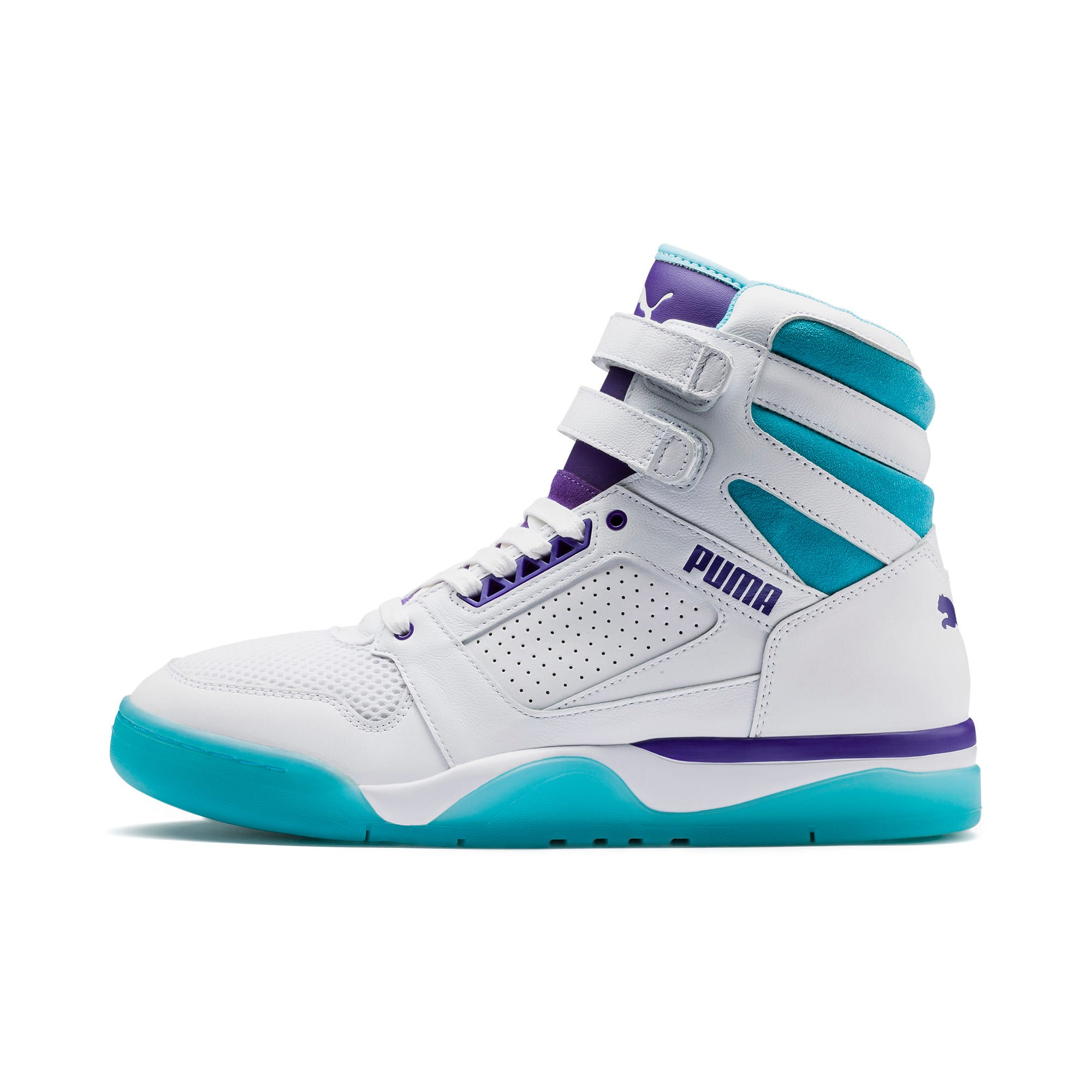 Thumbnail 1 of Palace Guard Mid Queen City Sneakers, Puma White-Blue Atoll, medium