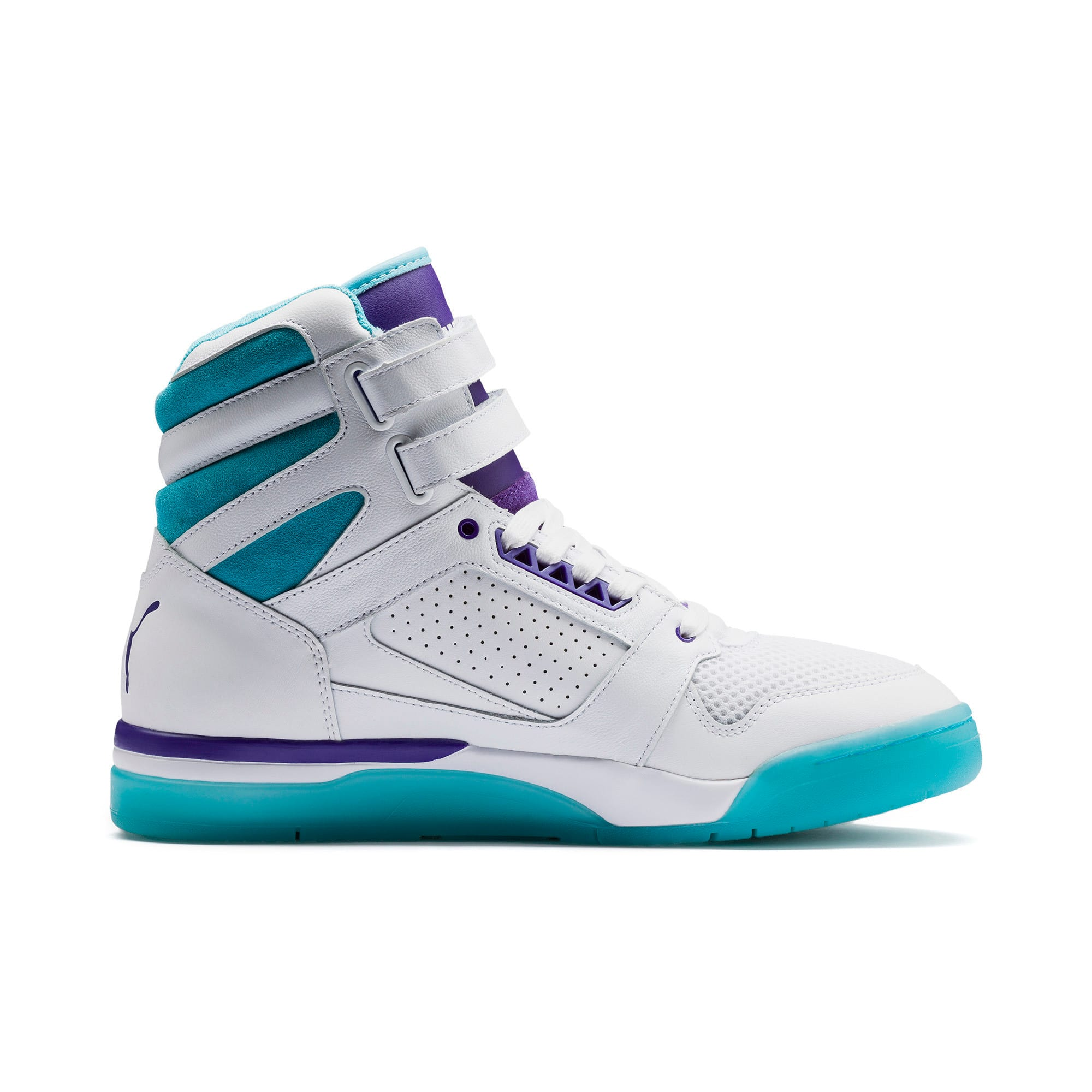 Thumbnail 5 of Palace Guard Mid Queen City Sneakers, Puma White-Blue Atoll, medium