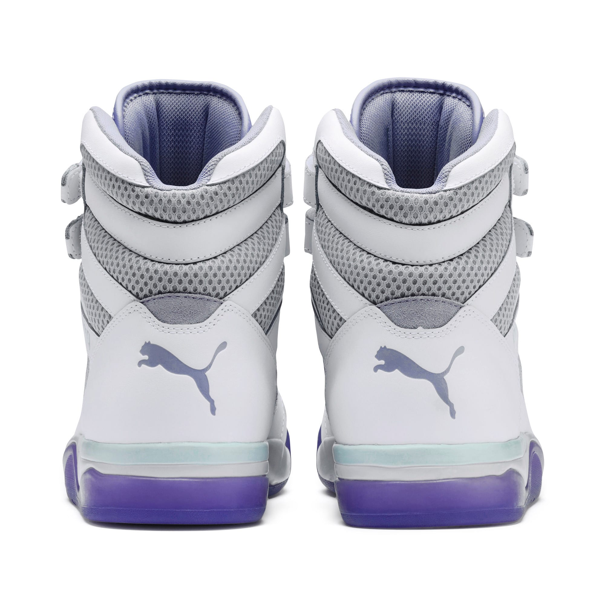 Thumbnail 4 of Palace Guard Mid Easter Sneakers, PWht-Dandelion-Prism Violet, medium
