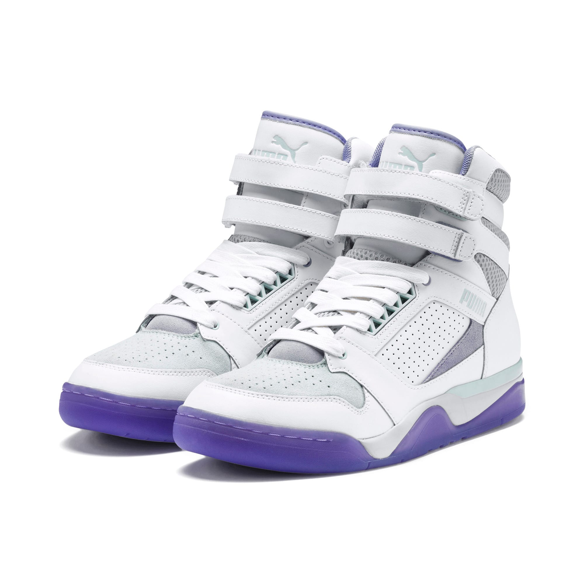 Thumbnail 2 of Palace Guard Mid Easter Sneakers, PWht-Dandelion-Prism Violet, medium