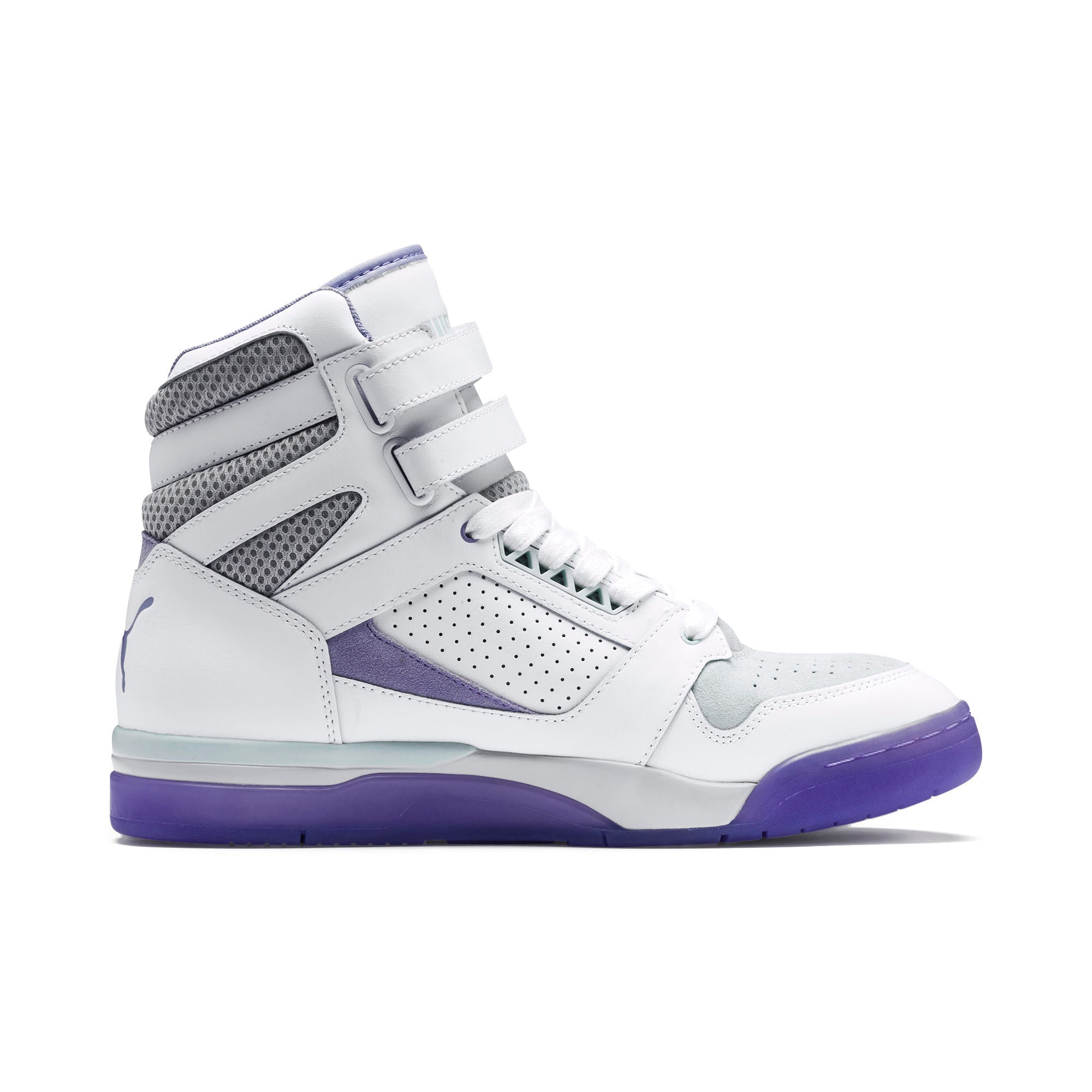 Thumbnail 5 of Palace Guard Mid Easter Sneakers, PWht-Dandelion-Prism Violet, medium