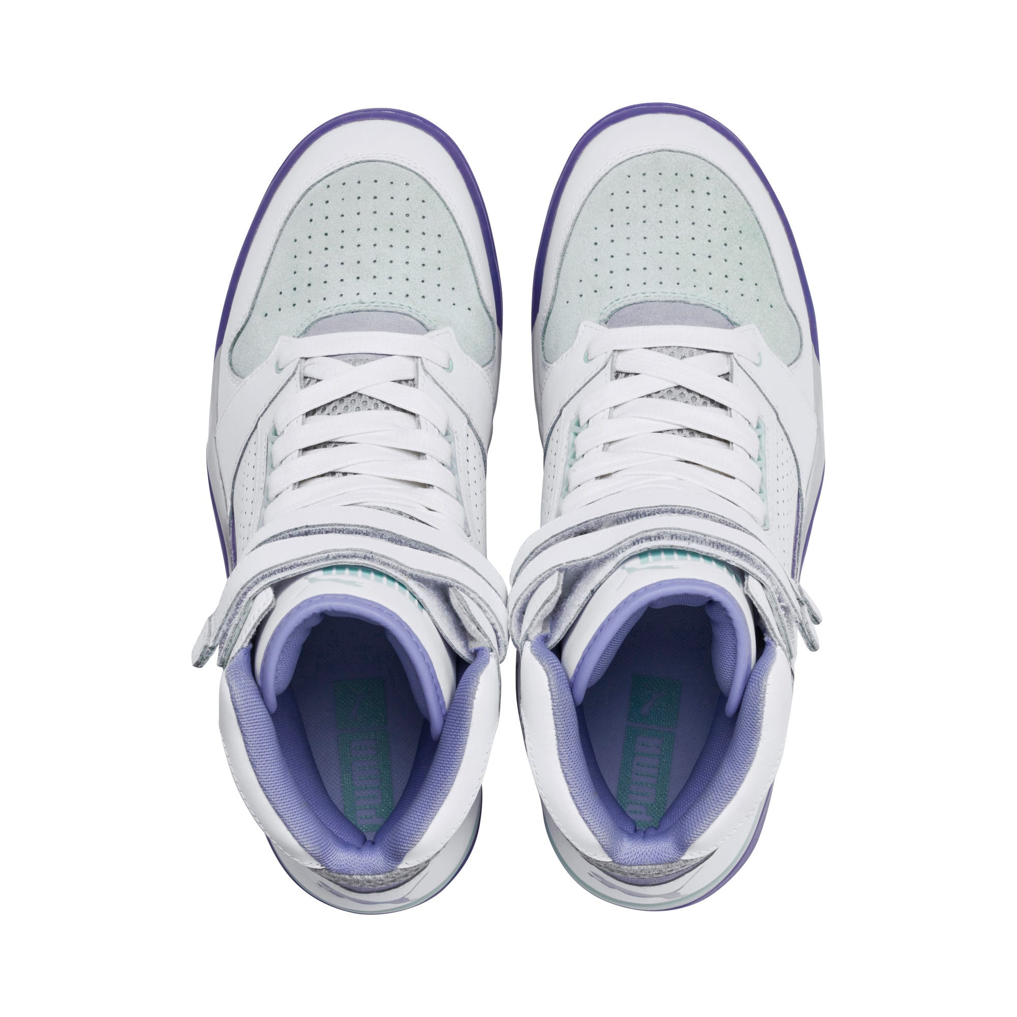 Thumbnail 6 of Palace Guard Mid Easter Sneakers, PWht-Dandelion-Prism Violet, medium