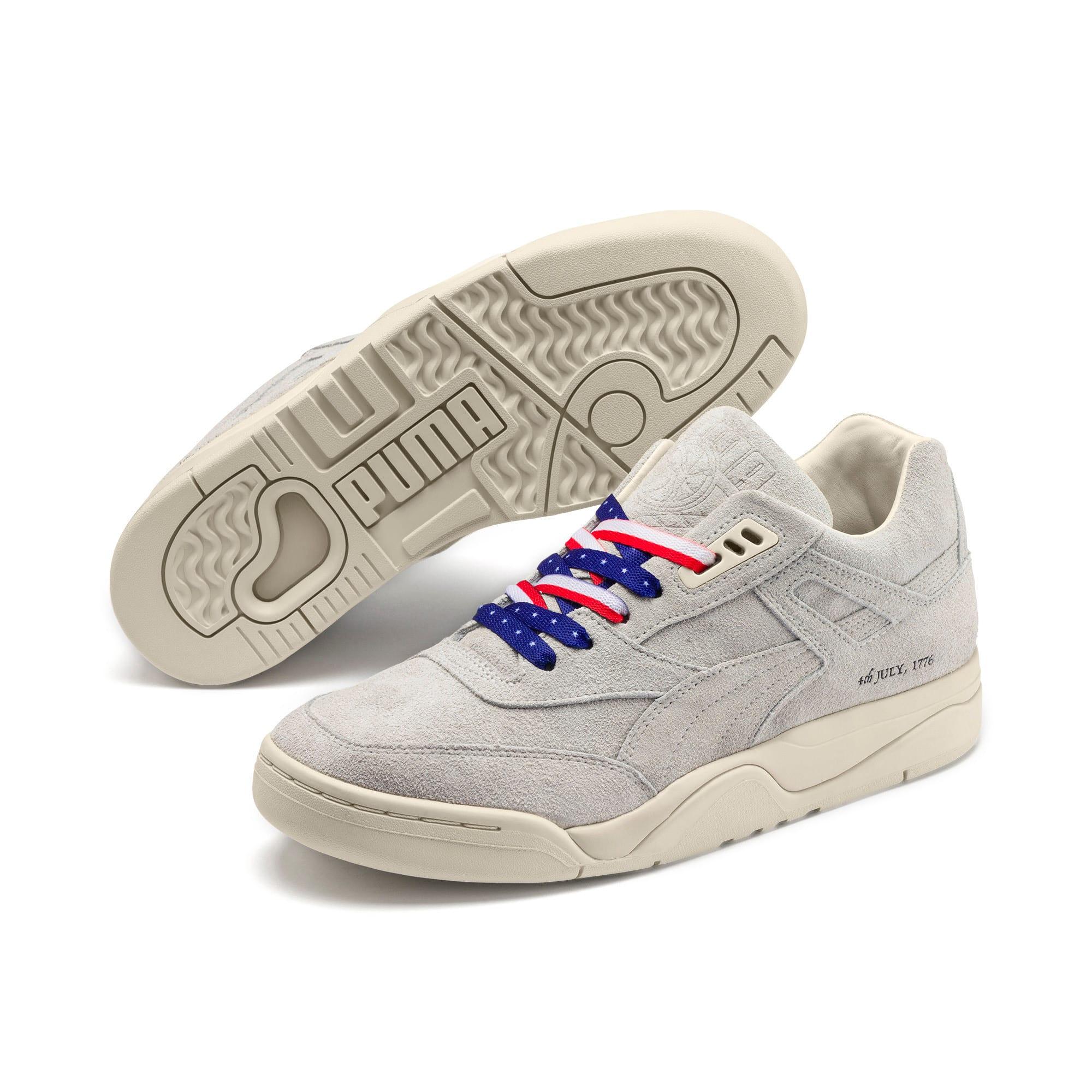 Thumbnail 7 of Palace Guard 4th of July Sneakers, Whisper White-Puma Black, medium