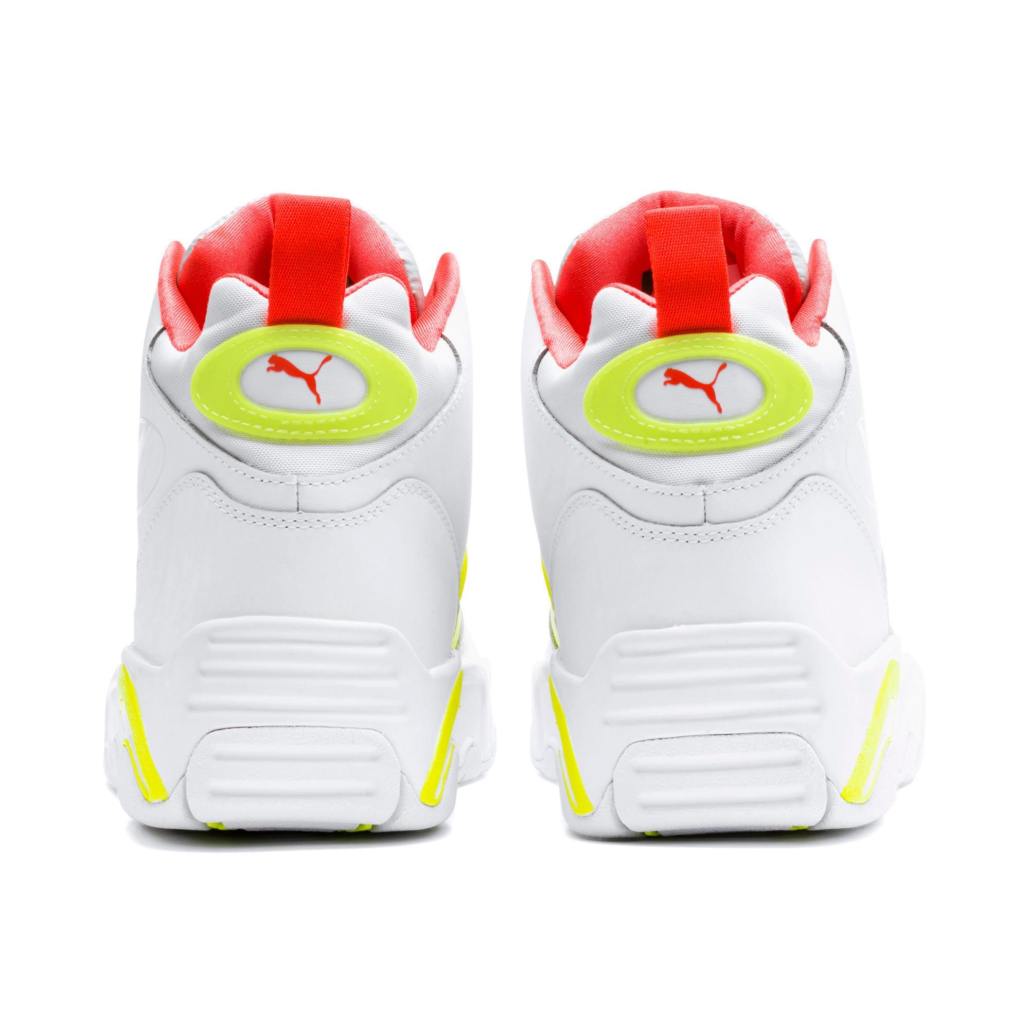Thumbnail 4 of Source Mid Buzzer Sneakers, P Wht-Yellow Alert-High Rise, medium
