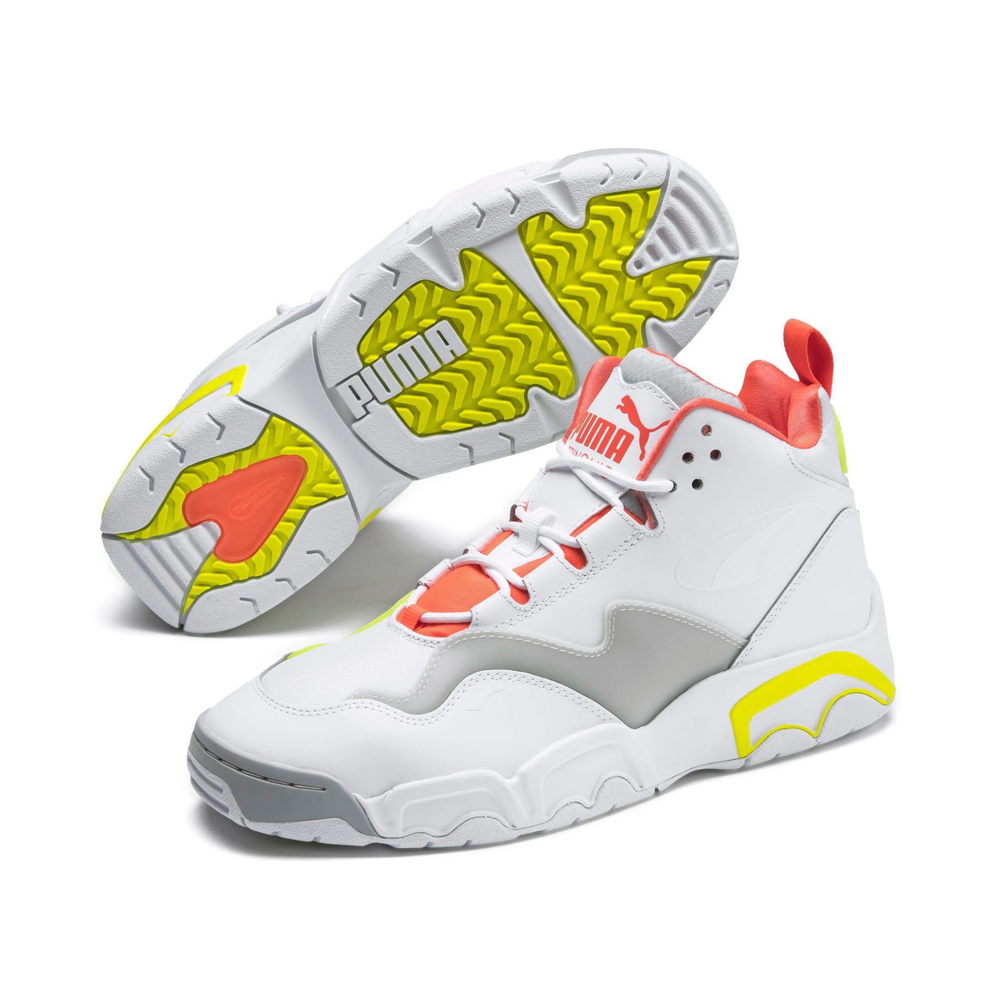 Thumbnail 3 of Source Mid Buzzer Sneakers, P Wht-Yellow Alert-High Rise, medium