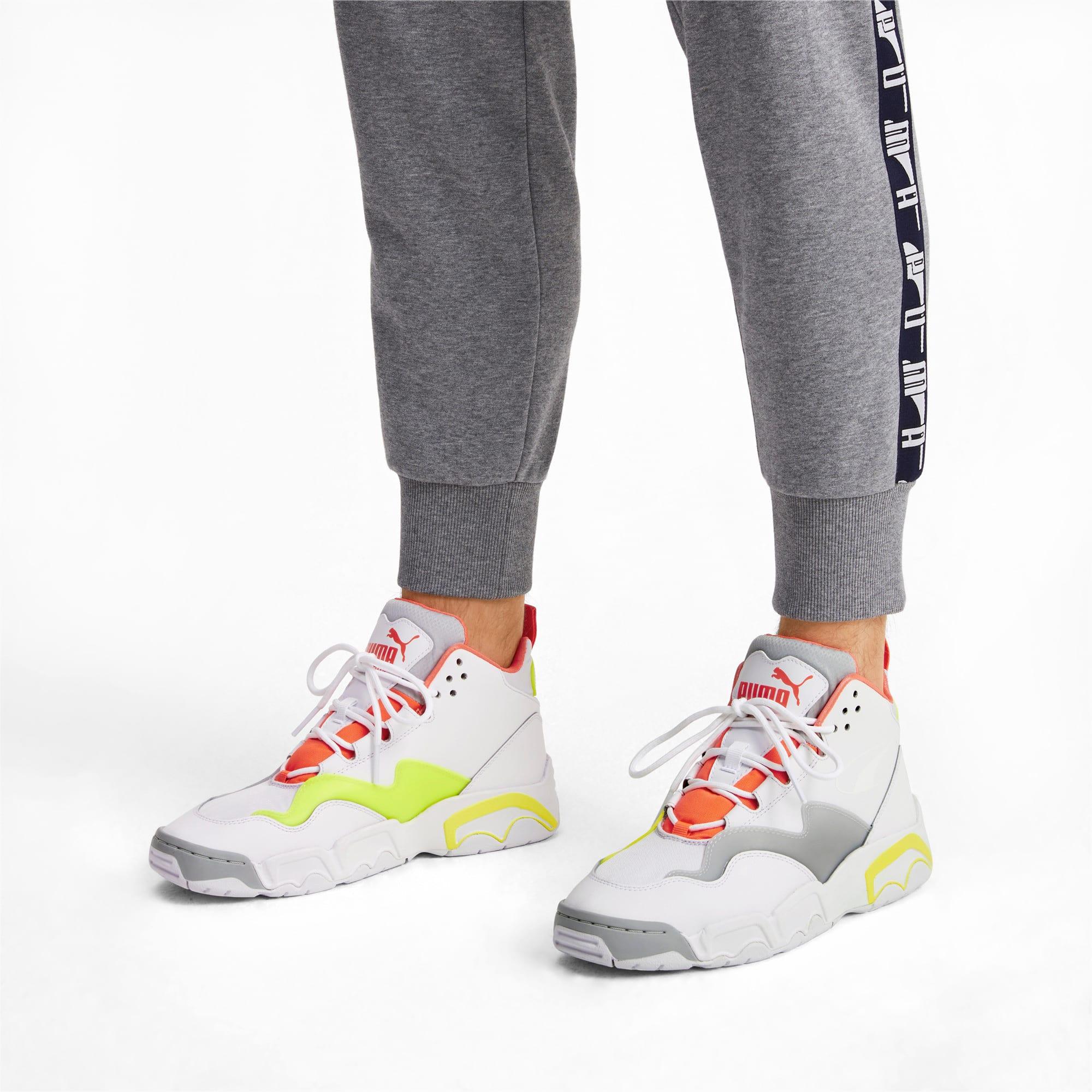Thumbnail 2 of Source Mid Buzzer Sneakers, P Wht-Yellow Alert-High Rise, medium