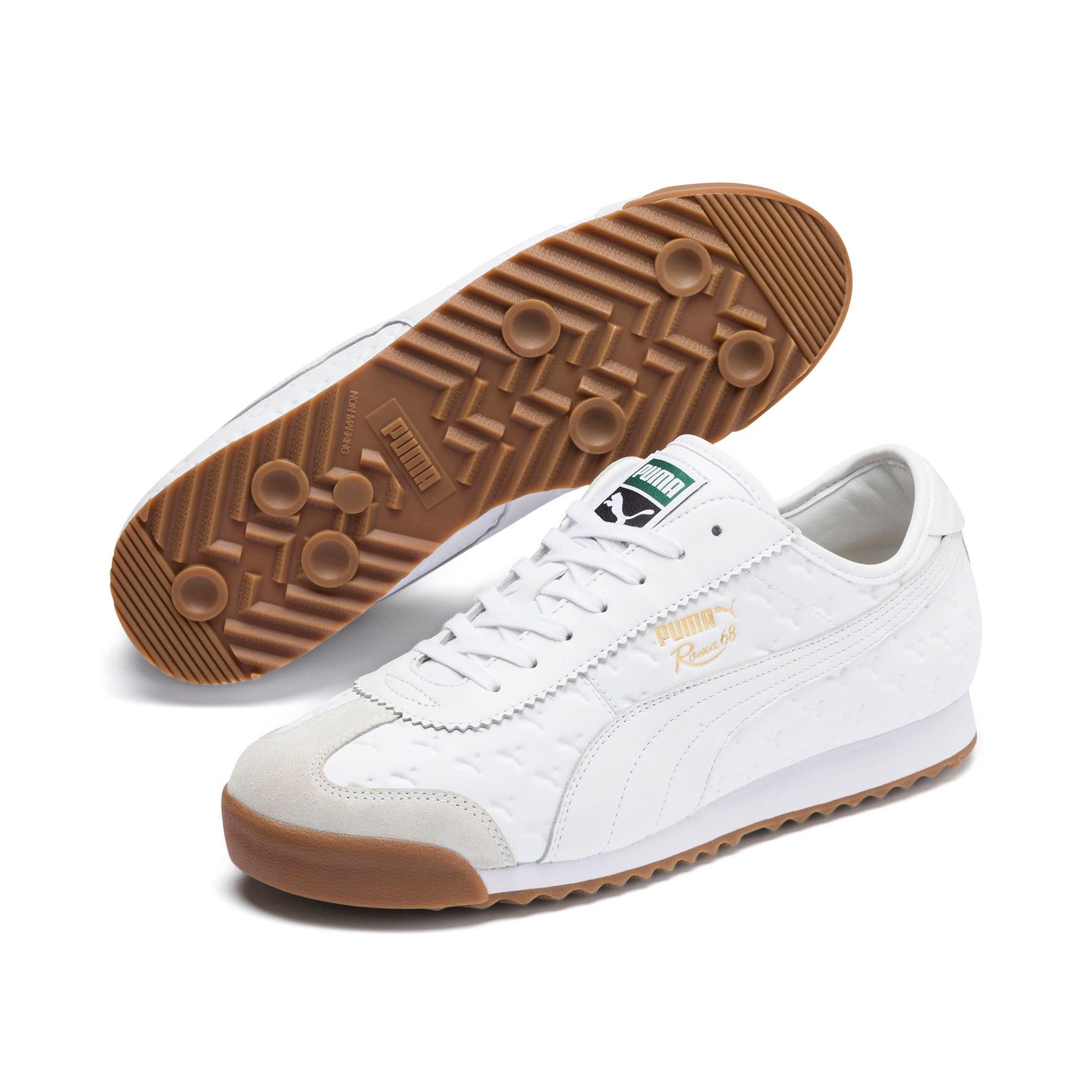 Thumbnail 3 of Roma '68 Gum Sneakers, Puma White-Puma White, medium