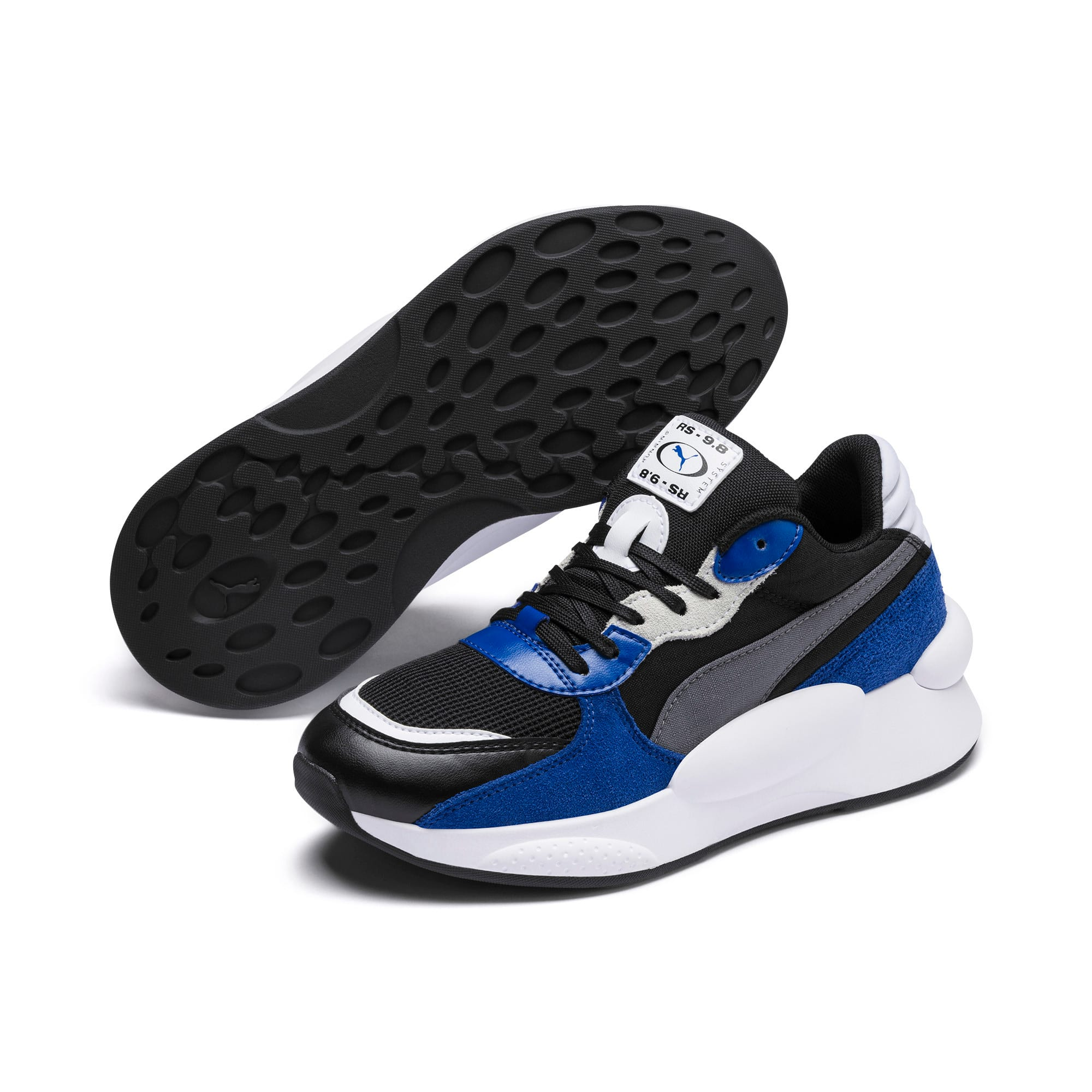 Thumbnail 2 of RS 9.8 Space Youth Trainers, Puma Black-Galaxy Blue, medium