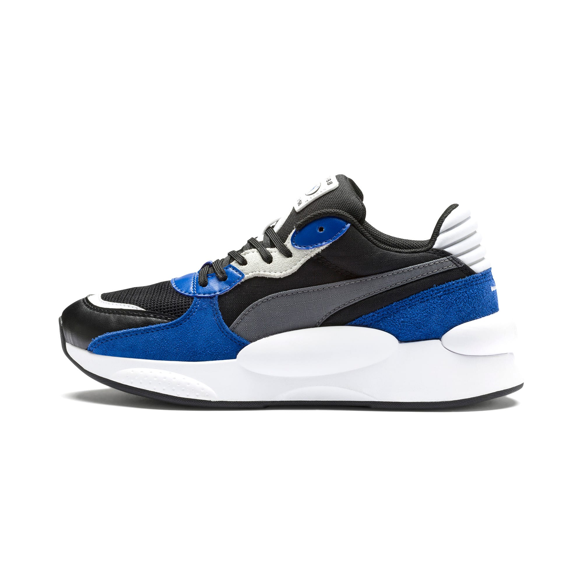 Thumbnail 1 of RS 9.8 Space Youth Trainers, Puma Black-Galaxy Blue, medium