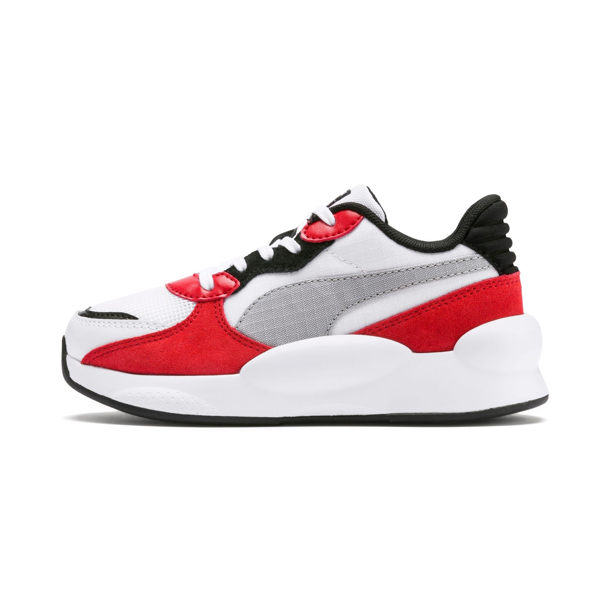 Thumbnail 1 of RS 9.8 Space Little Kids' Shoes, Puma White-High Risk Red, medium