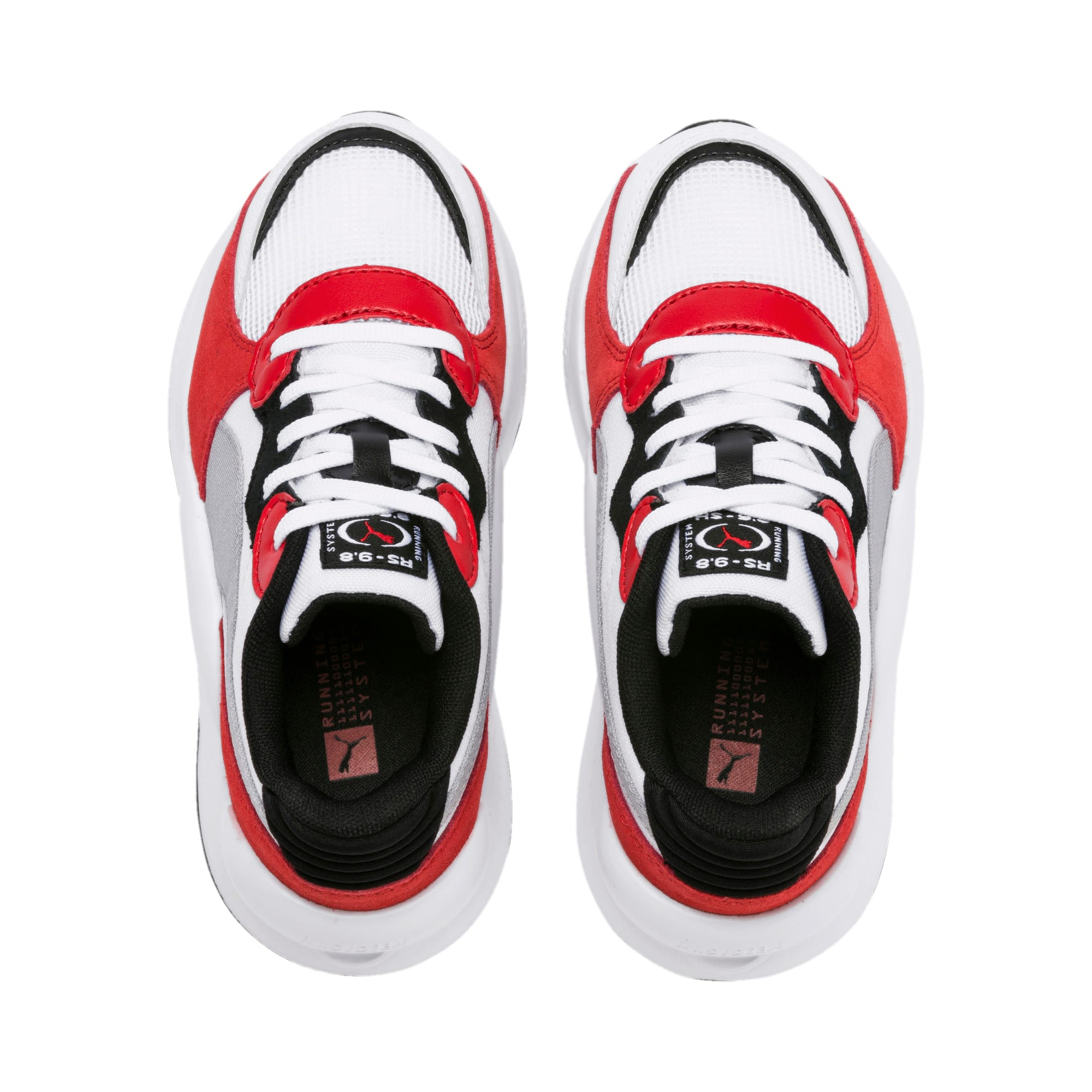 Thumbnail 6 of RS 9.8 Space Kids' Trainers, Puma White-High Risk Red, medium