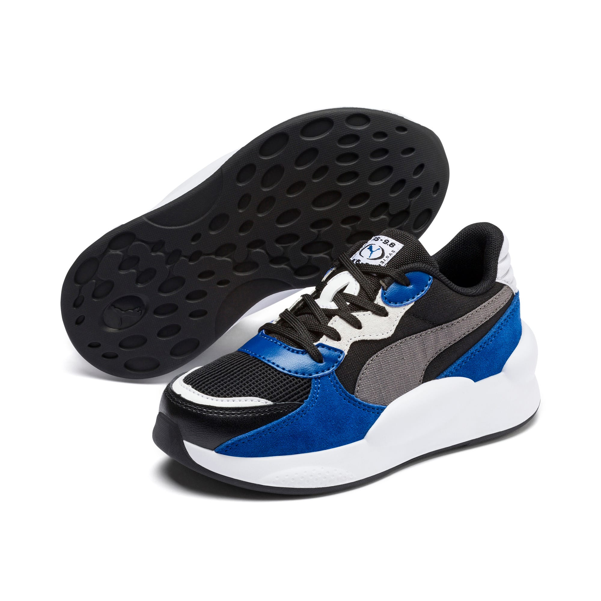 Thumbnail 2 of RS 9.8 Space Kids' Trainers, Puma Black-Galaxy Blue, medium