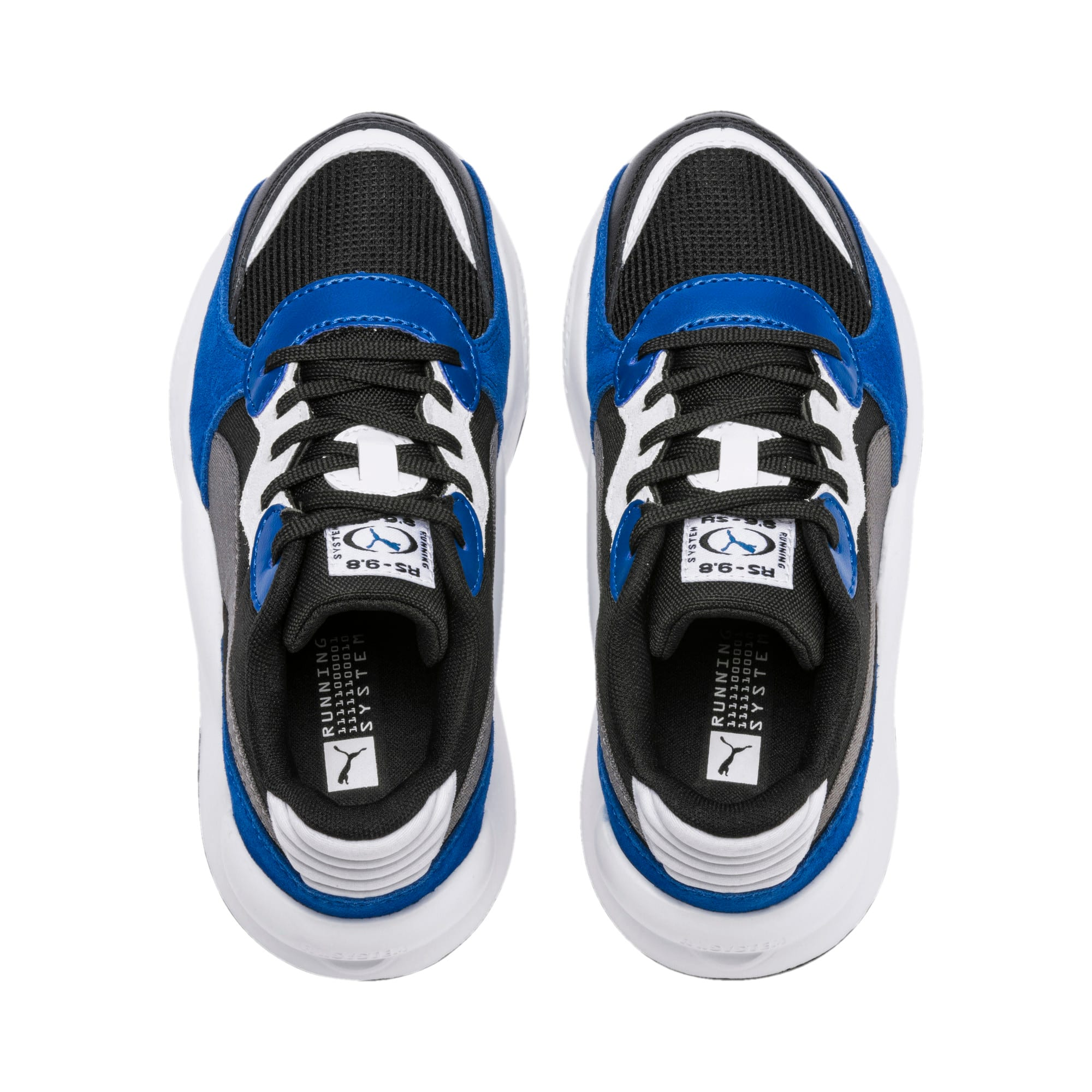 Thumbnail 6 of RS 9.8 Space Kids' Trainers, Puma Black-Galaxy Blue, medium