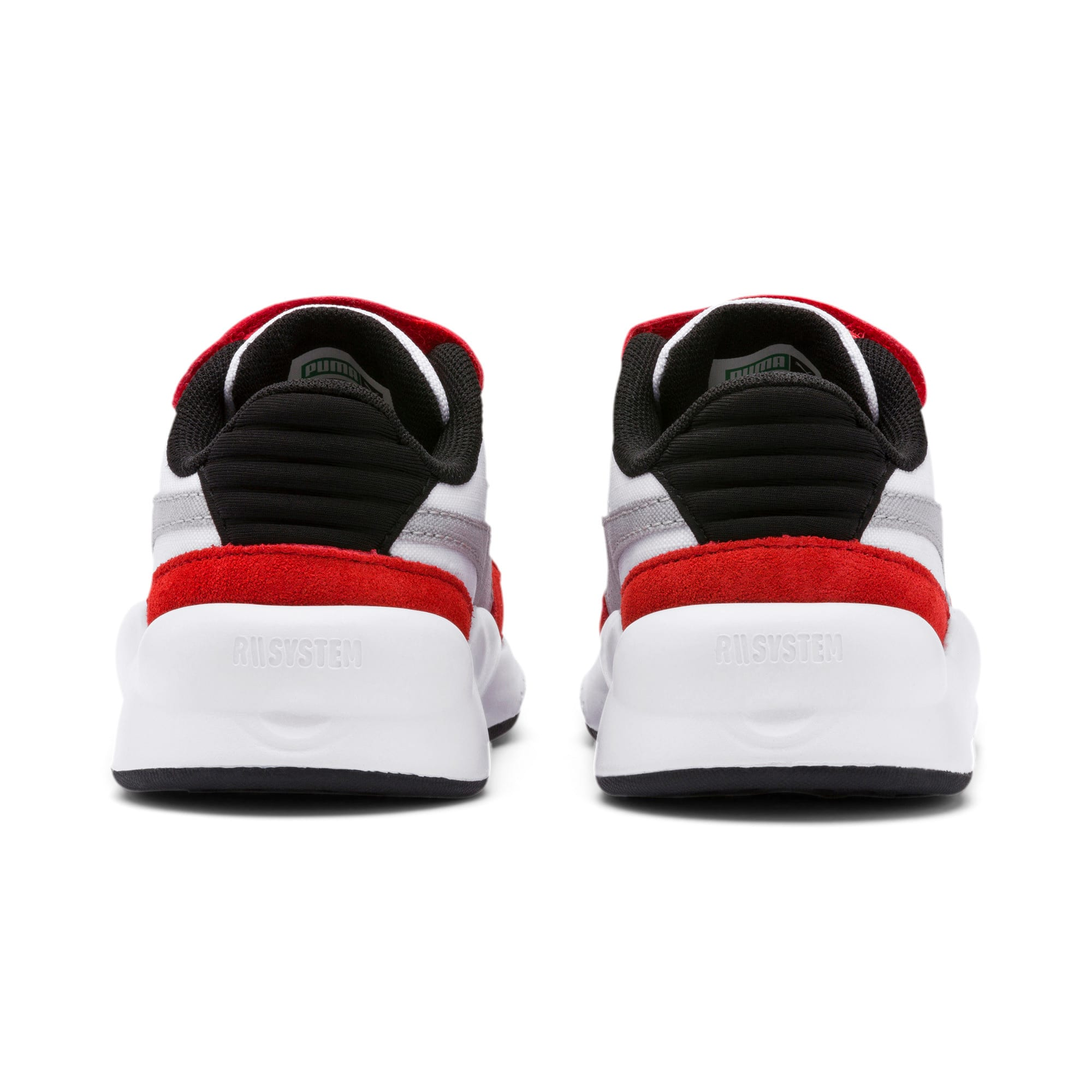 Thumbnail 3 of RS 9.8 Space AC Toddler Shoes, Puma White-High Risk Red, medium