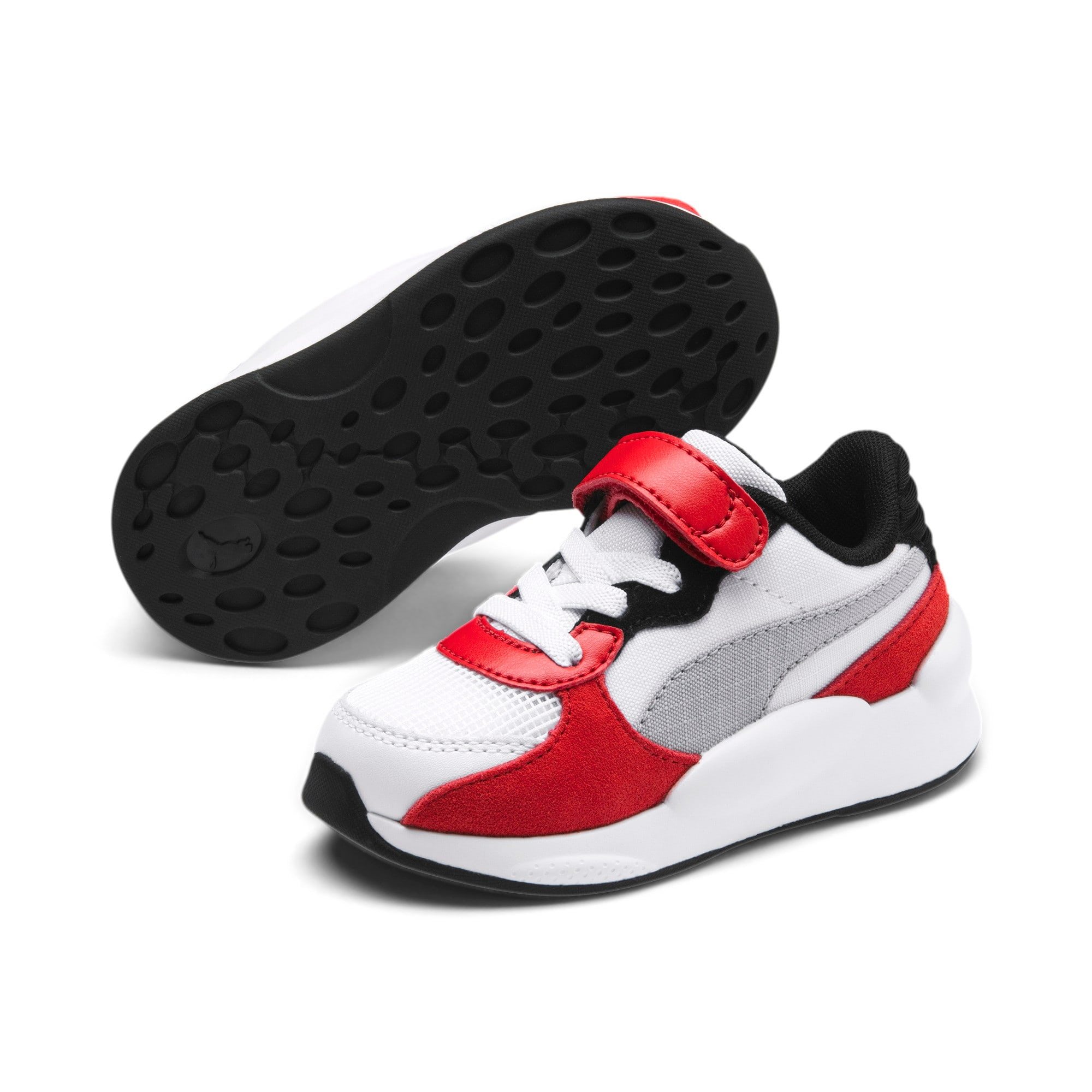 Thumbnail 2 of RS 9.8 Space AC Toddler Shoes, Puma White-High Risk Red, medium