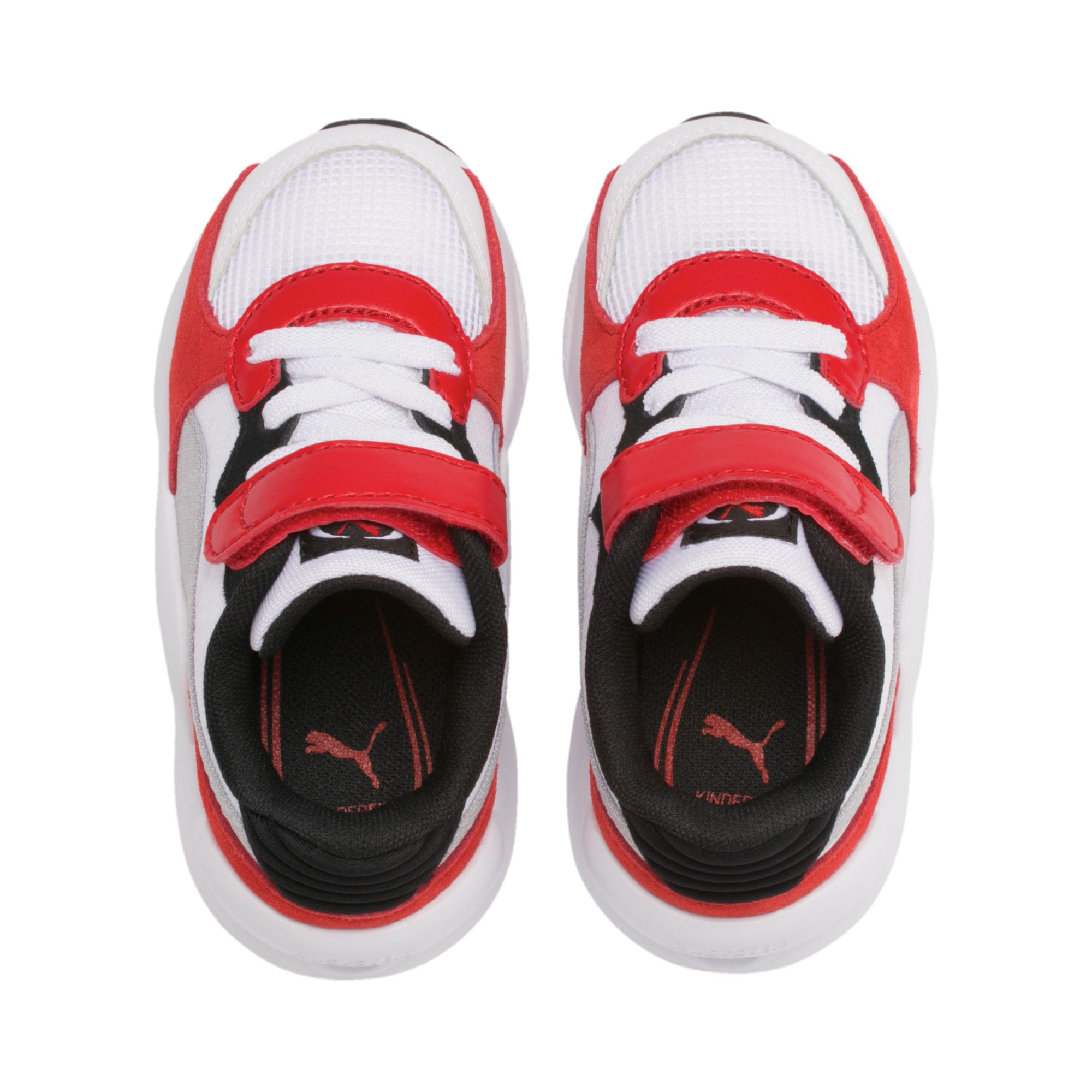Thumbnail 6 of RS 9.8 Space AC Toddler Shoes, Puma White-High Risk Red, medium