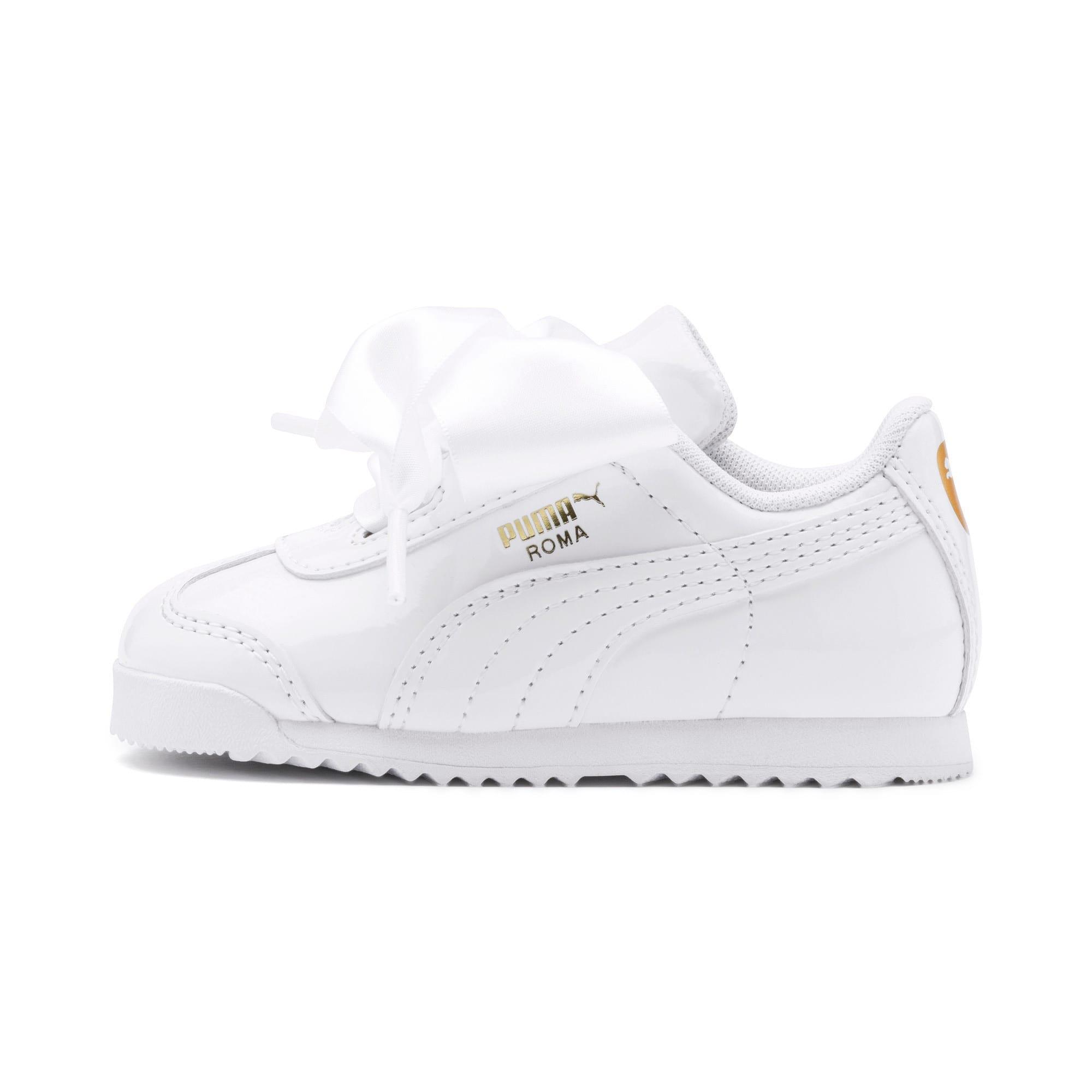 Miniatura 1 de Zapatos de charol Roma Heart para bebé, Puma White, mediano