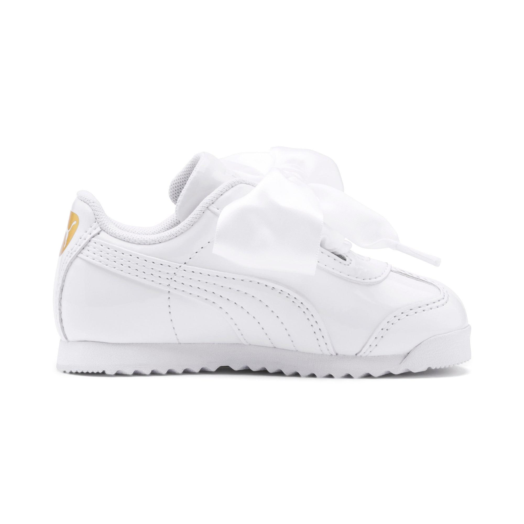 Miniatura 5 de Zapatos de charol Roma Heart para bebé, Puma White, mediano