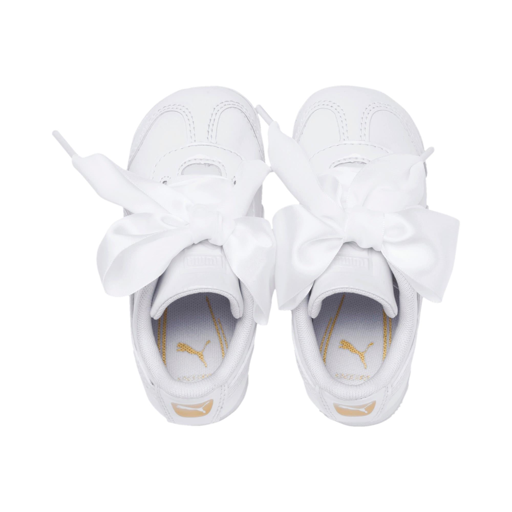 Miniatura 6 de Zapatos de charol Roma Heart para bebé, Puma White, mediano