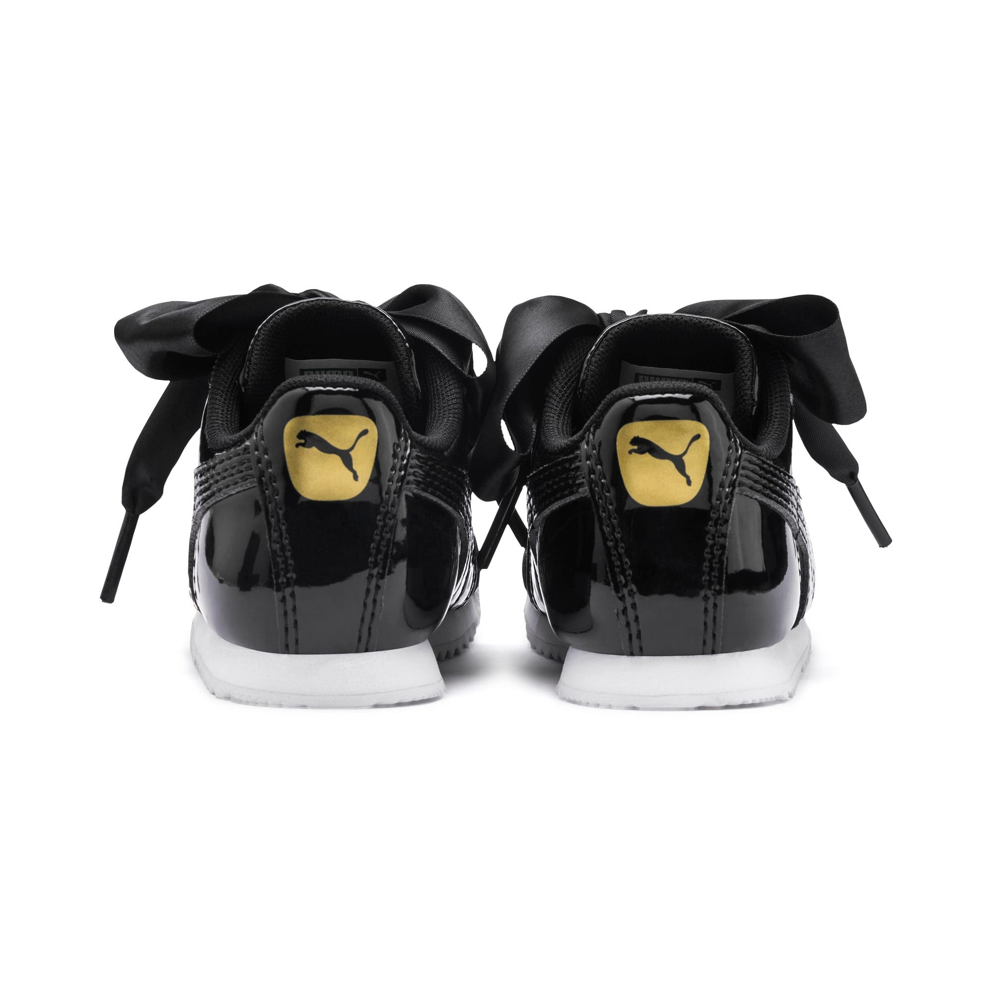 Thumbnail 3 of Roma Heart Patent Toddler Shoes, Puma Black, medium