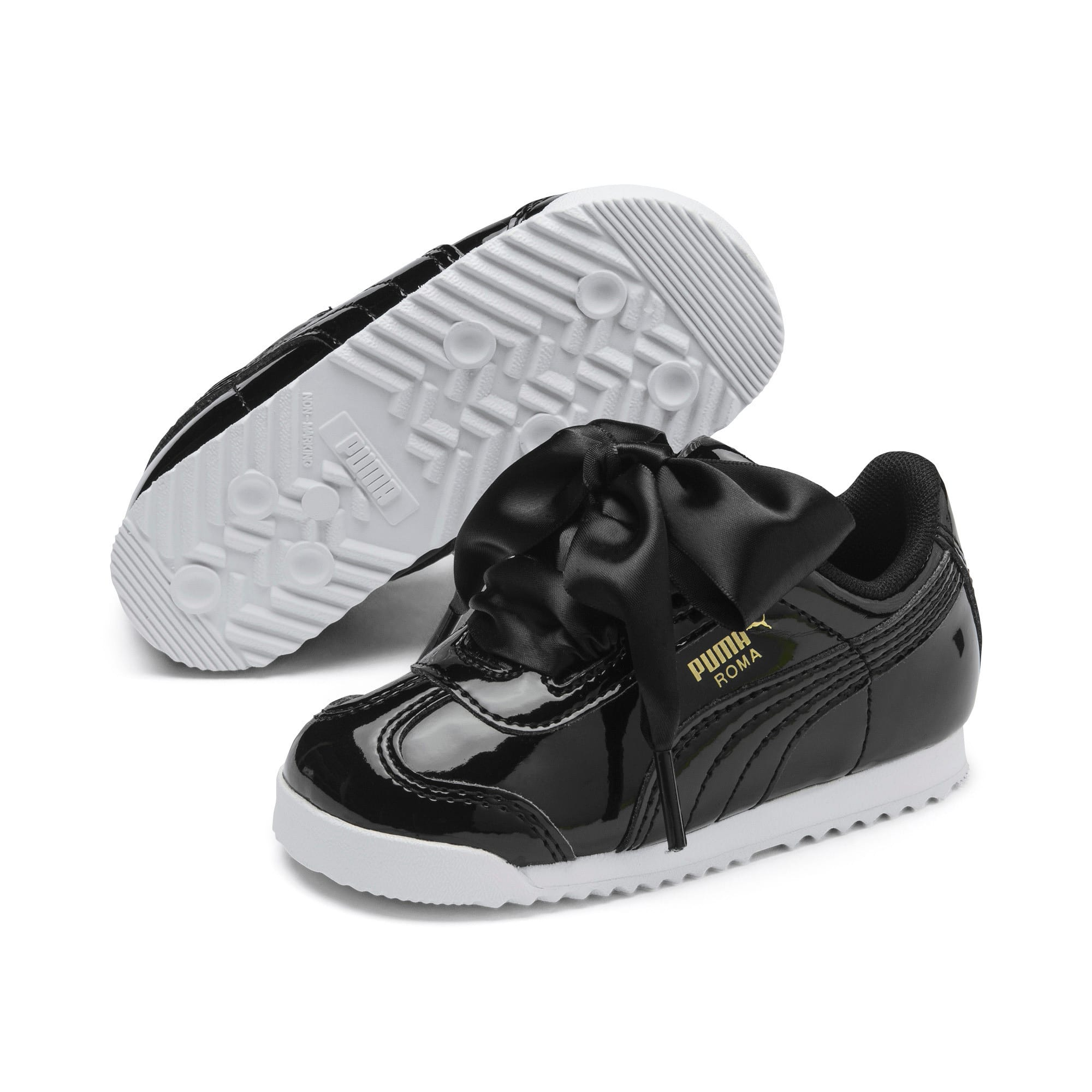 Thumbnail 2 of Roma Heart Patent Toddler Shoes, Puma Black, medium