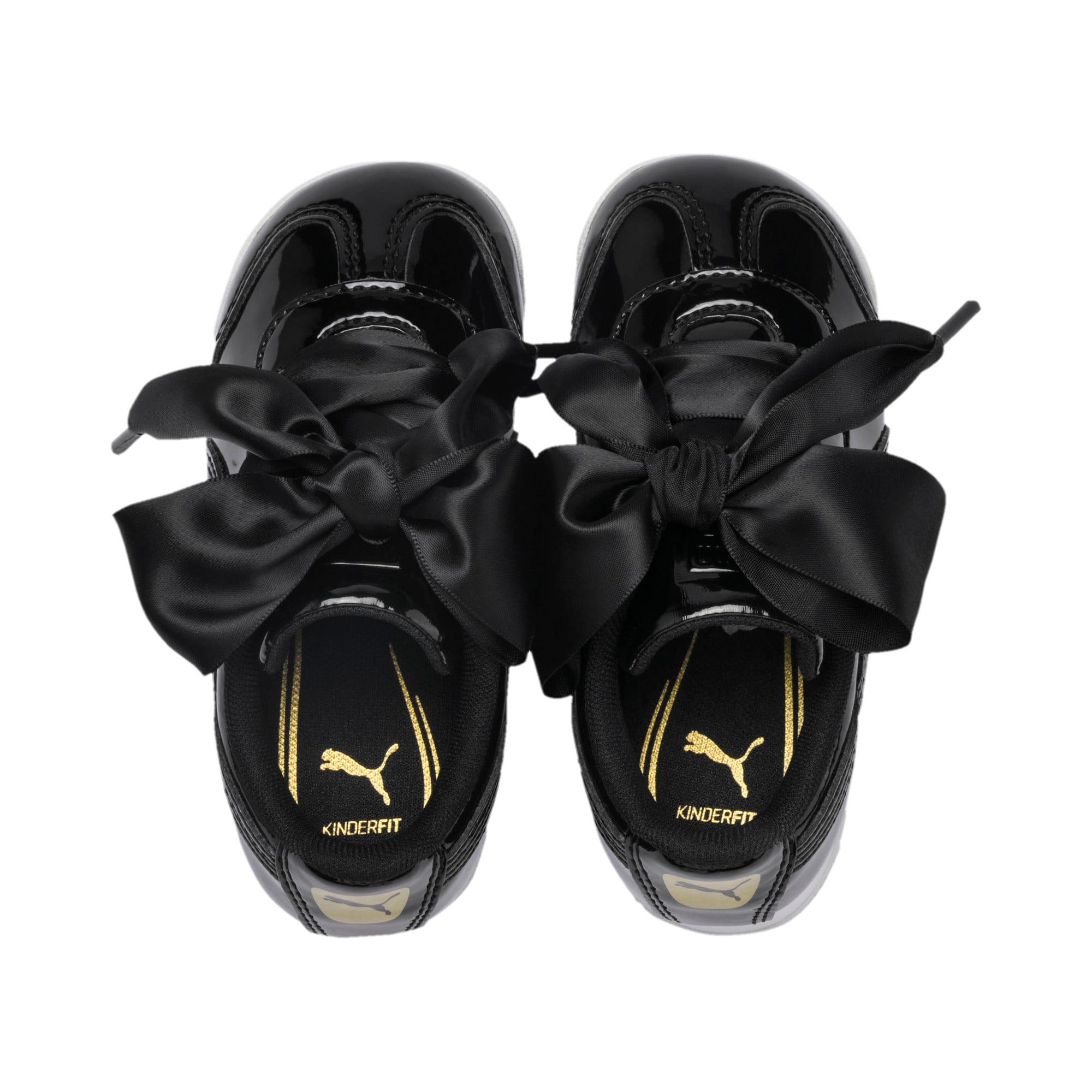 Thumbnail 6 of Roma Heart Patent Toddler Shoes, Puma Black, medium
