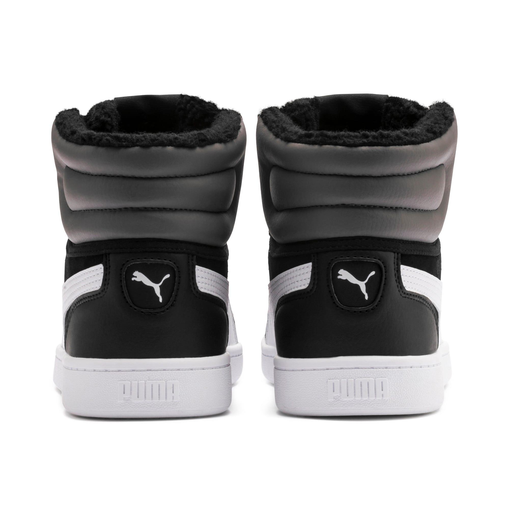Thumbnail 3 of Vikky v2 Mid Fur Youth Mädchen Sneaker, Puma Black-CASTLEROCK-White, medium