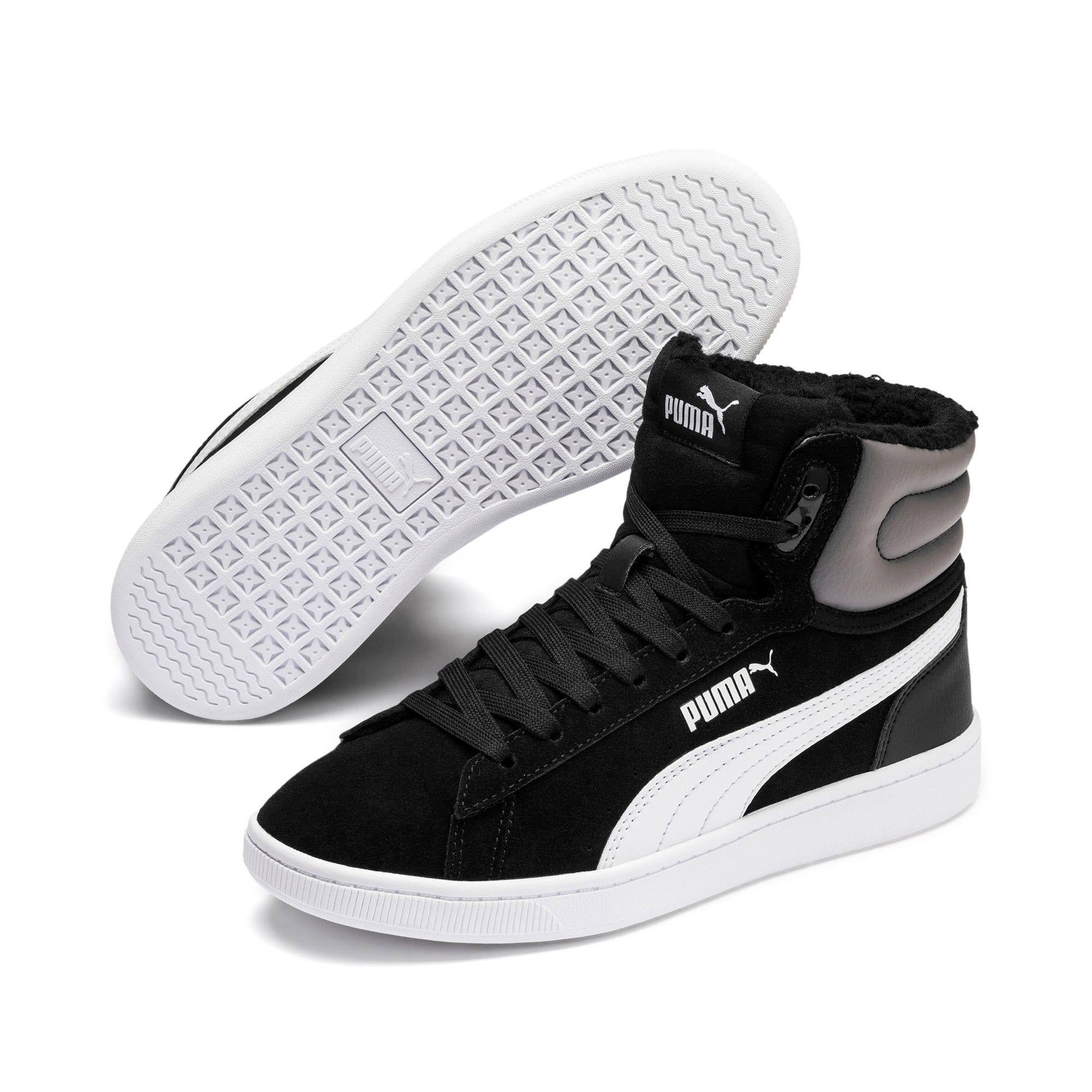 Thumbnail 2 of Vikky v2 Mid Fur Youth Mädchen Sneaker, Puma Black-CASTLEROCK-White, medium