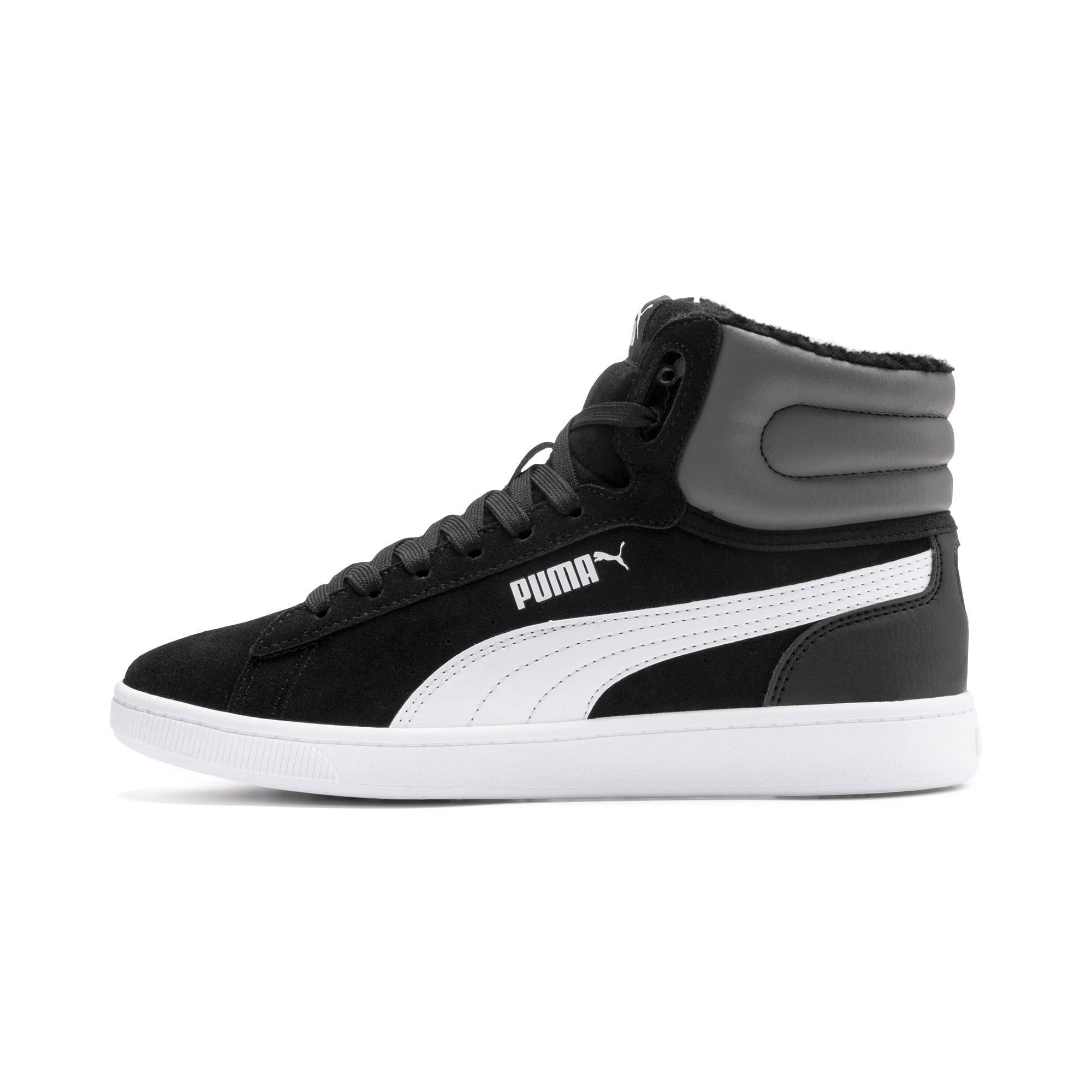 Thumbnail 1 of Vikky v2 Mid Fur Youth Mädchen Sneaker, Puma Black-CASTLEROCK-White, medium