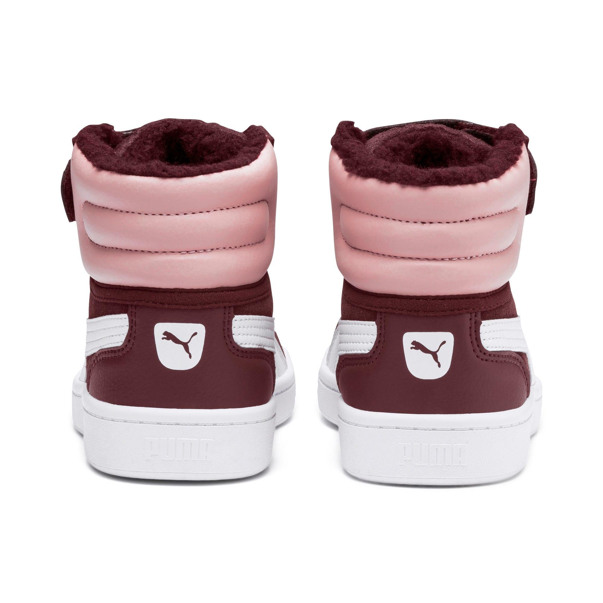 Thumbnail 3 of Vikky v2 Mid Fur V Kids Sneaker, Vineyard Wine-B Rose-White, medium