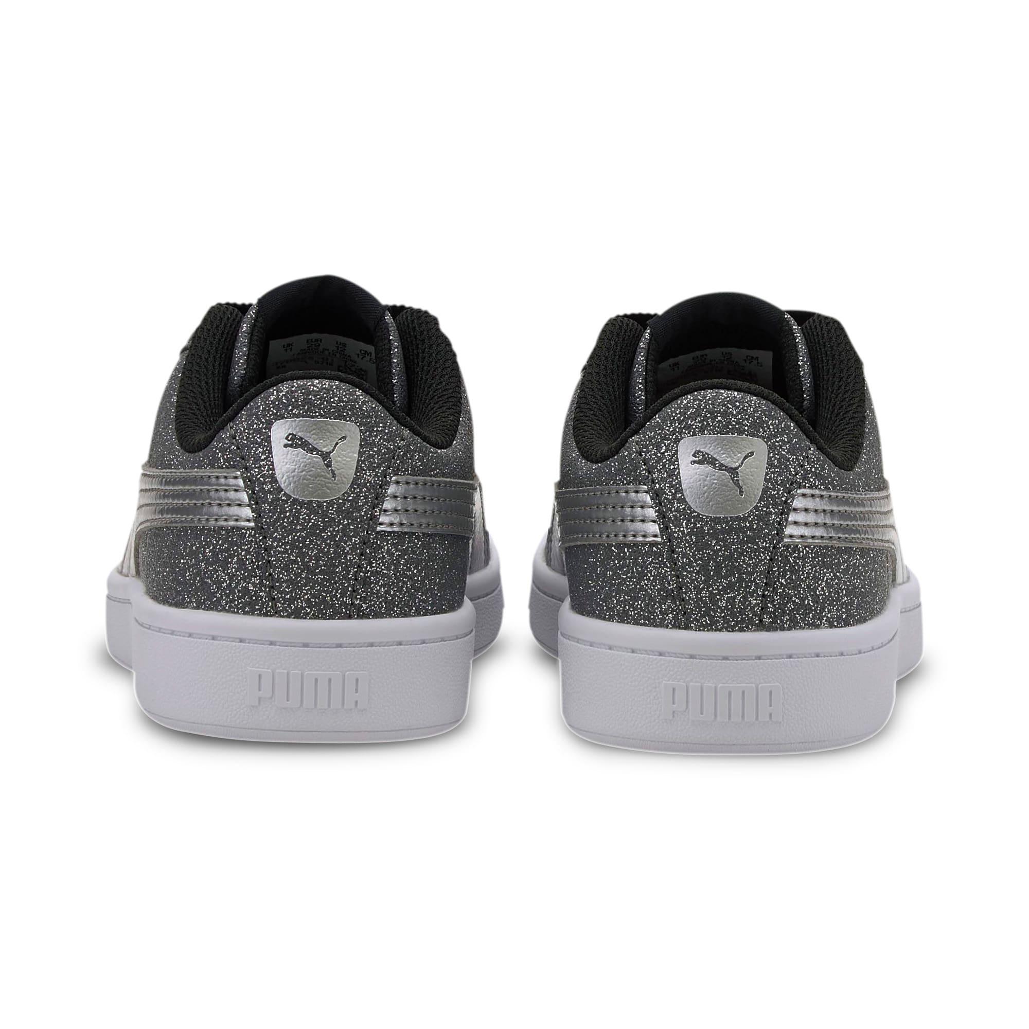 Thumbnail 3 of PUMA Vikky v2 Glitz AC Sneakers PS, Puma Black-Silver-White, medium