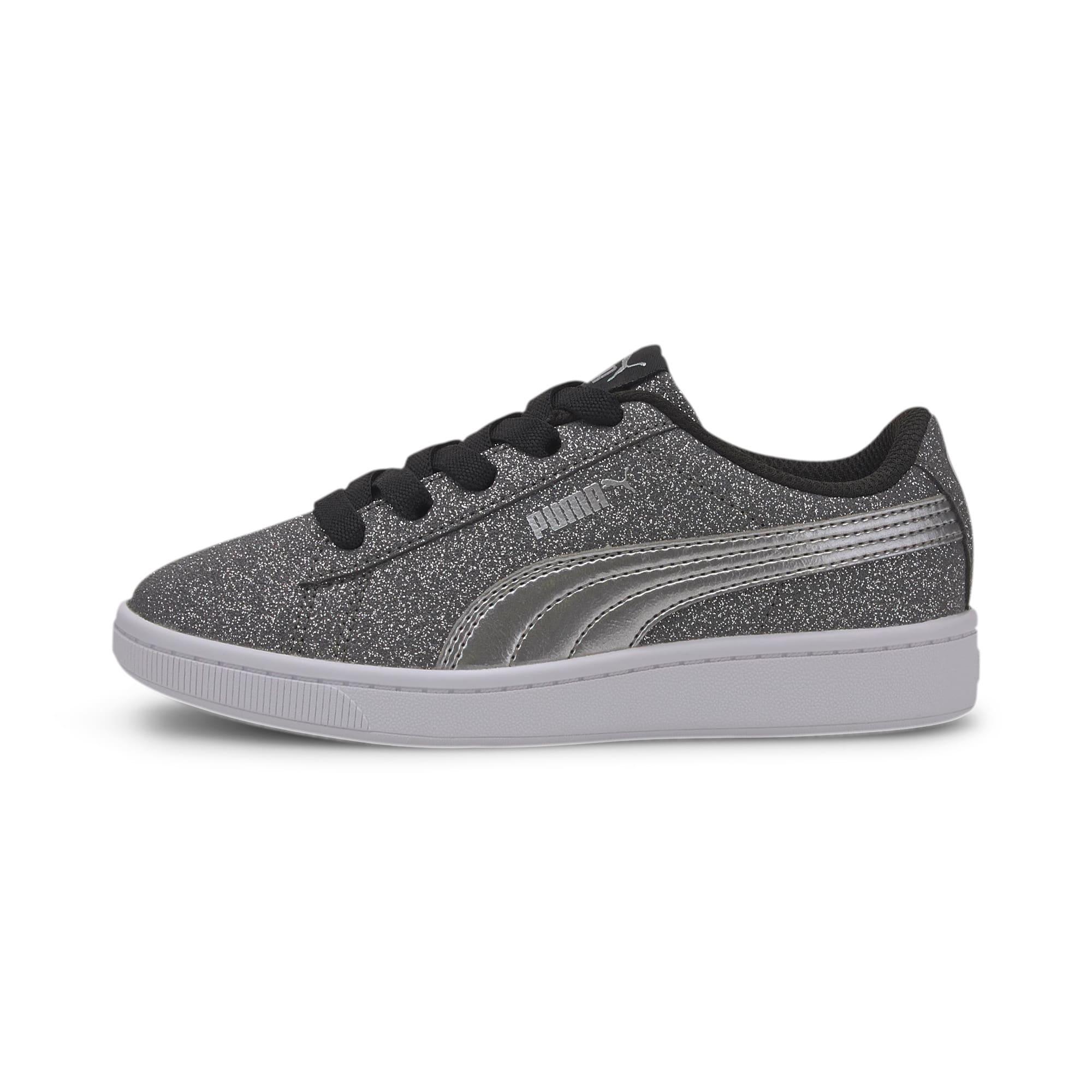 Thumbnail 1 of PUMA Vikky v2 Glitz AC Sneakers PS, Puma Black-Silver-White, medium