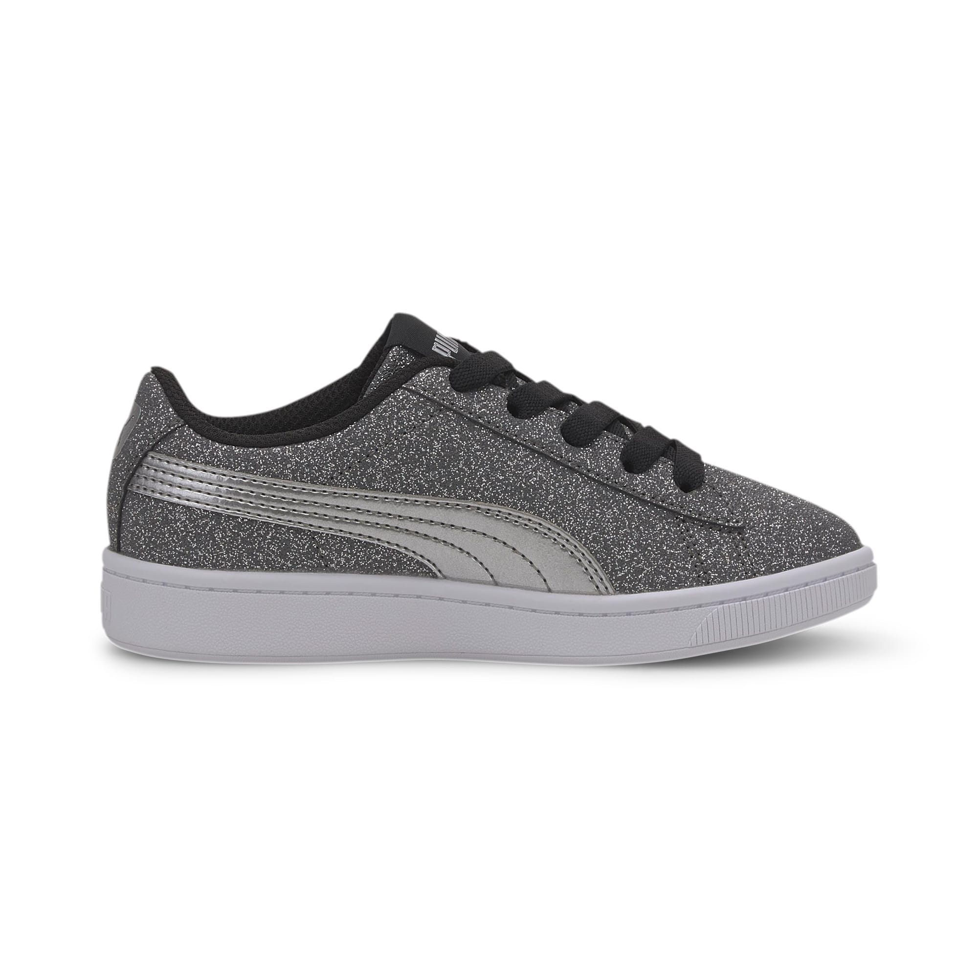 Thumbnail 5 of PUMA Vikky v2 Glitz AC Sneakers PS, Puma Black-Silver-White, medium