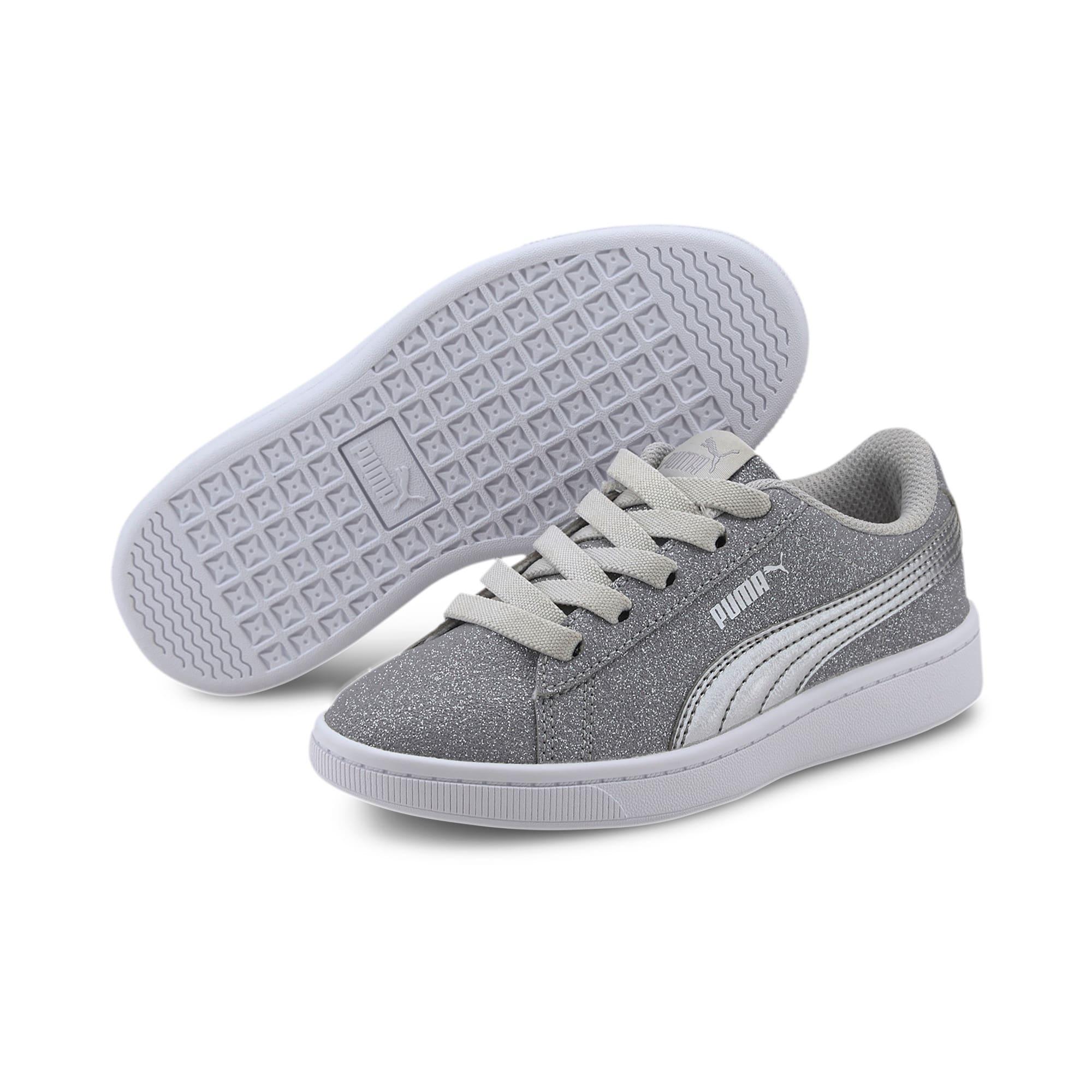 Thumbnail 2 of PUMA Vikky v2 Glitz AC Sneakers PS, Gray Violet-Silver-White, medium