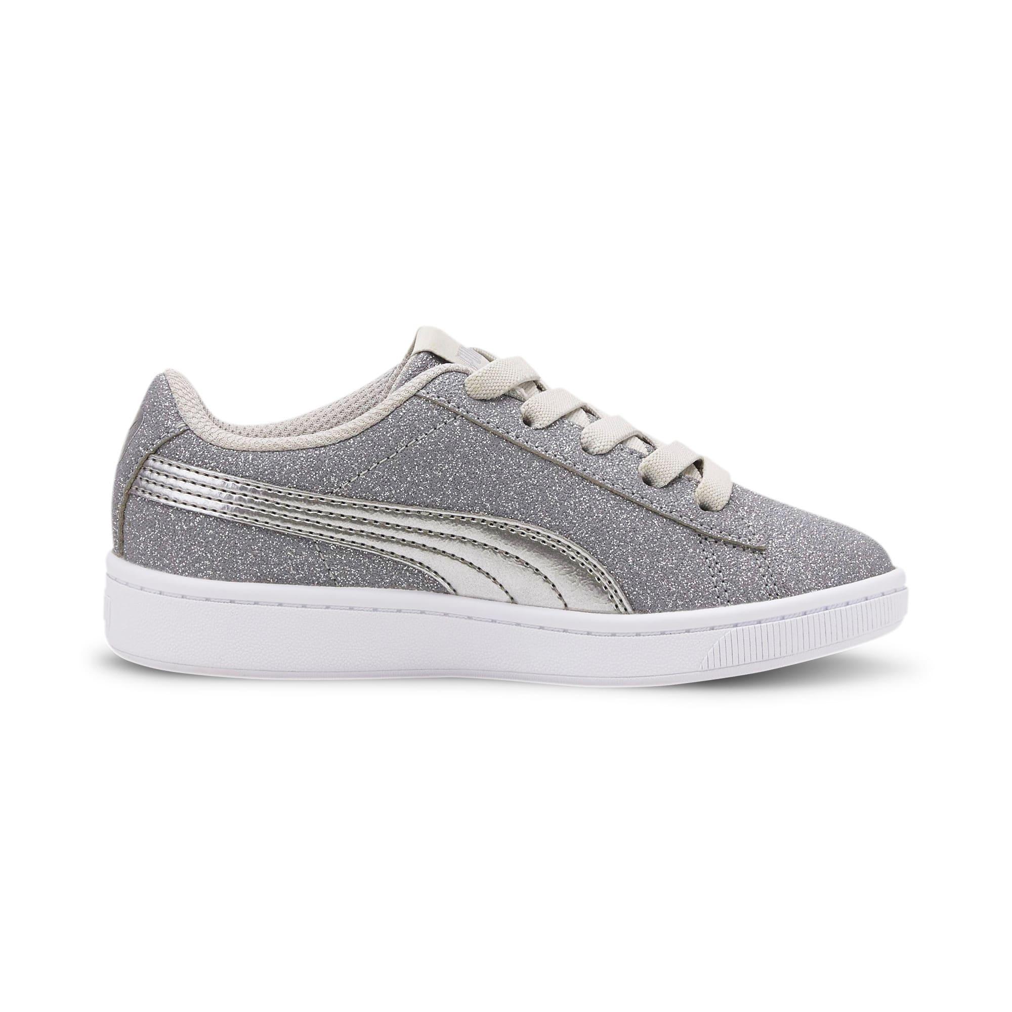 Thumbnail 5 of PUMA Vikky v2 Glitz AC Sneakers PS, Gray Violet-Silver-White, medium