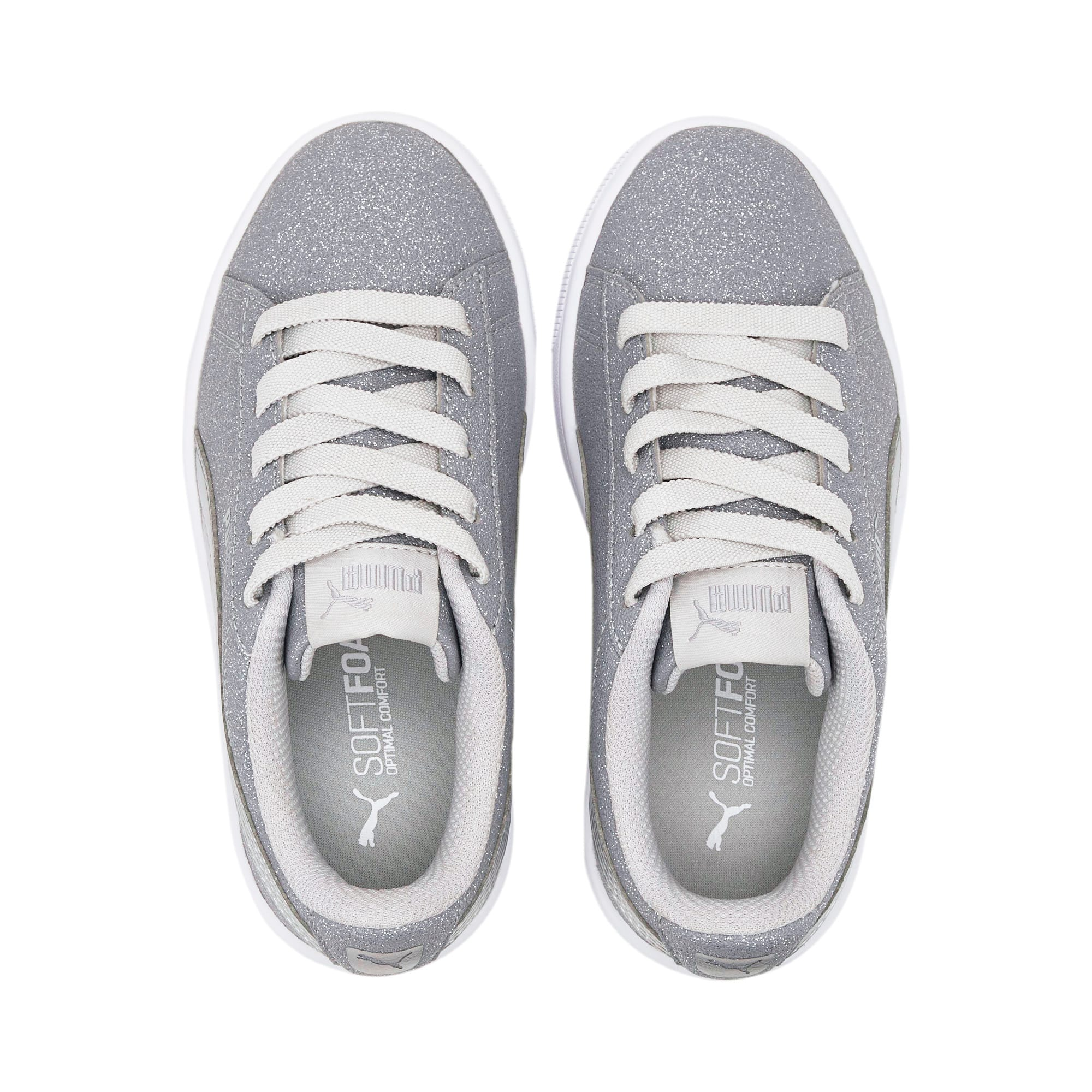 Thumbnail 6 of PUMA Vikky v2 Glitz AC Sneakers PS, Gray Violet-Silver-White, medium