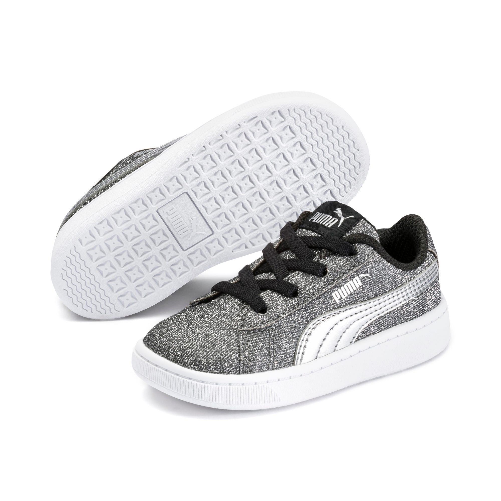 Miniatura 2 de Zapatos deportivos PUMA Vikky v2 Glitz AC INF, Puma Black-Silver-White, mediano