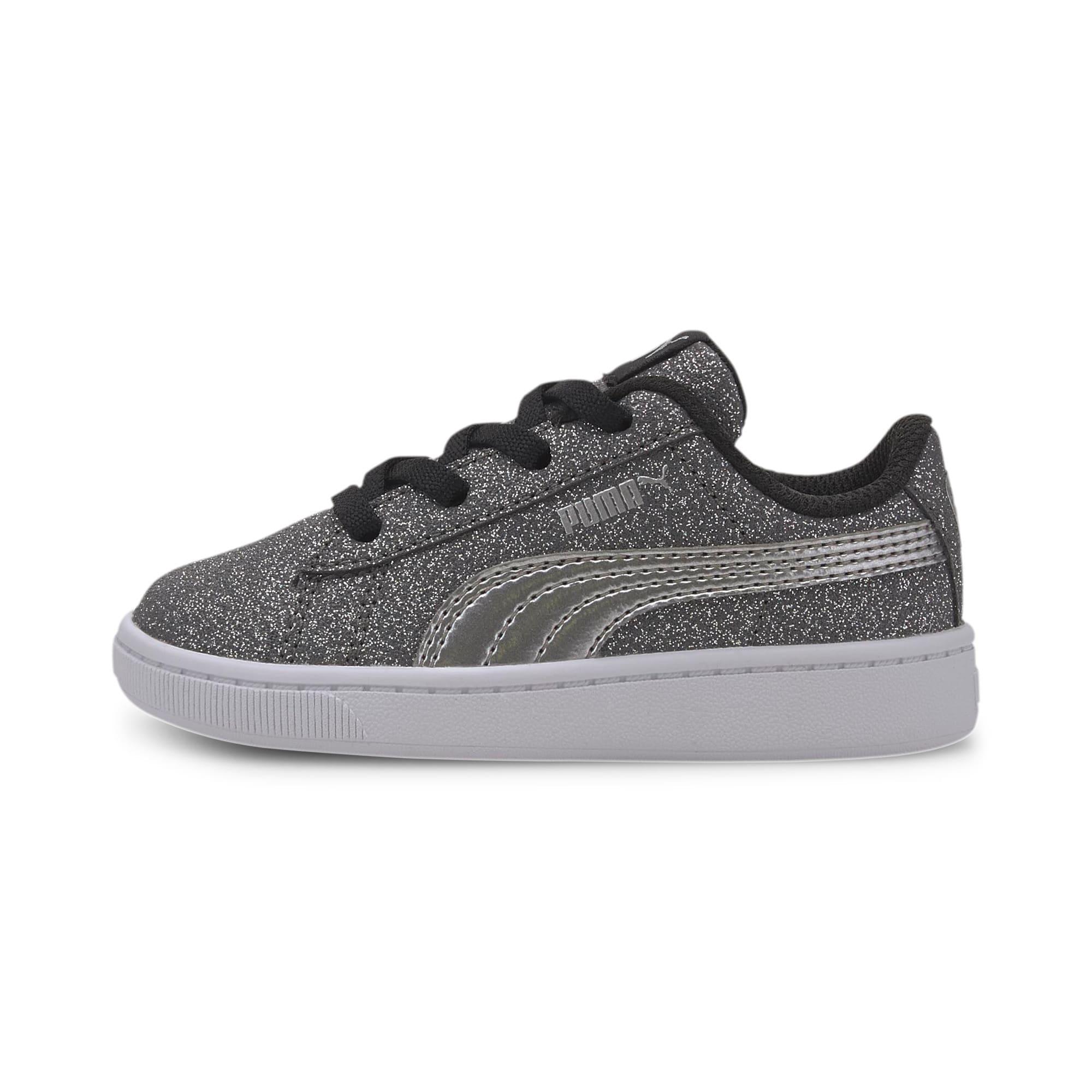 Miniatura 1 de Zapatos deportivos PUMA Vikky v2 Glitz AC INF, Puma Black-Silver-White, mediano