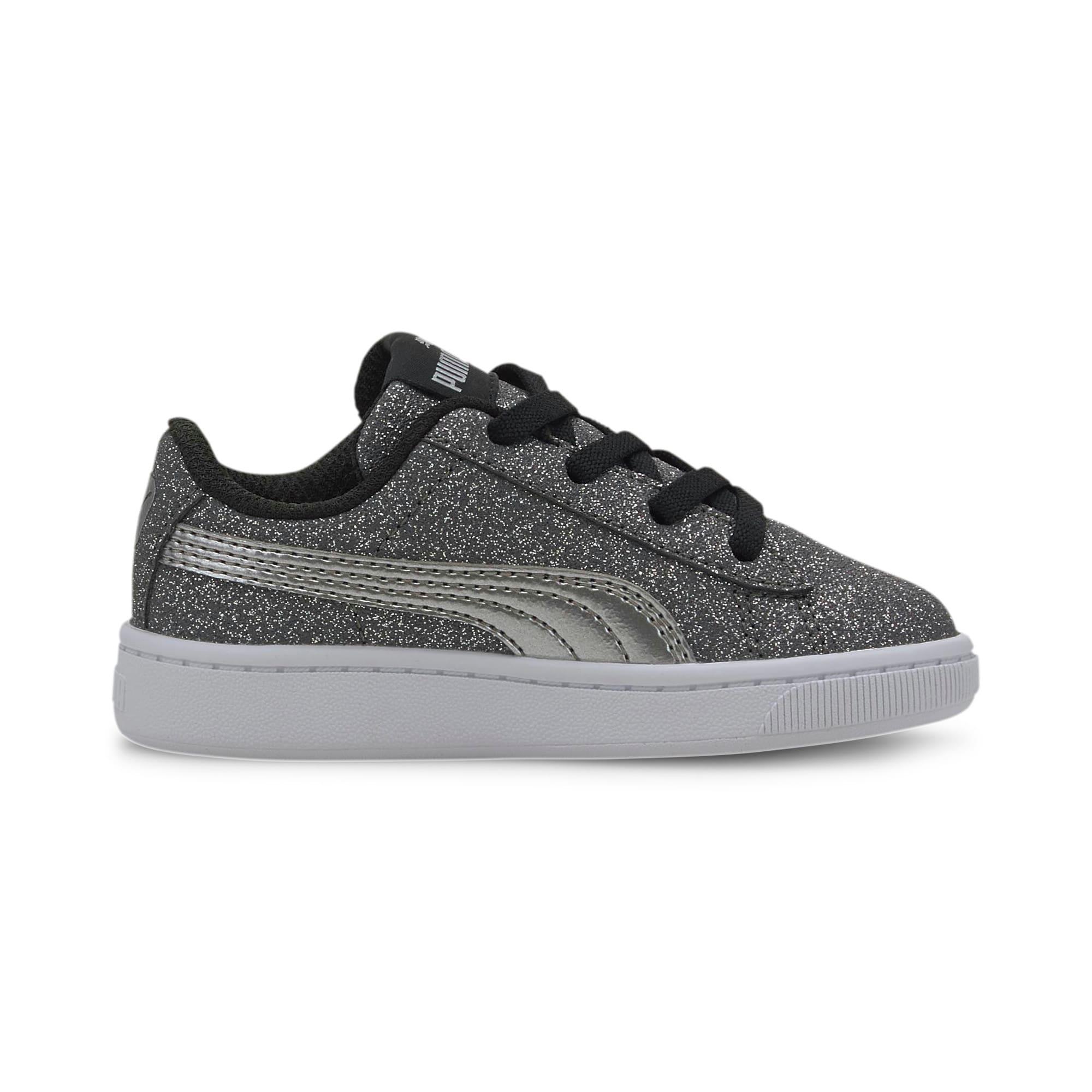 Miniatura 5 de Zapatos deportivos PUMA Vikky v2 Glitz AC INF, Puma Black-Silver-White, mediano