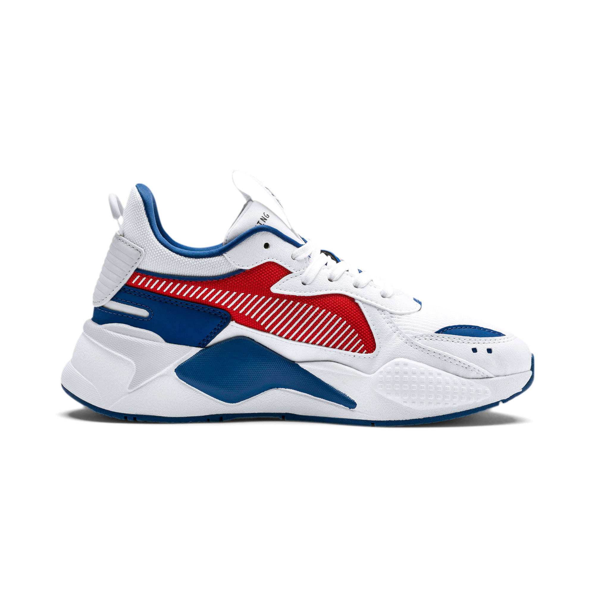 Thumbnail 5 of RS-X Hard Drive Youth Trainers, Puma White-High Risk Red, medium