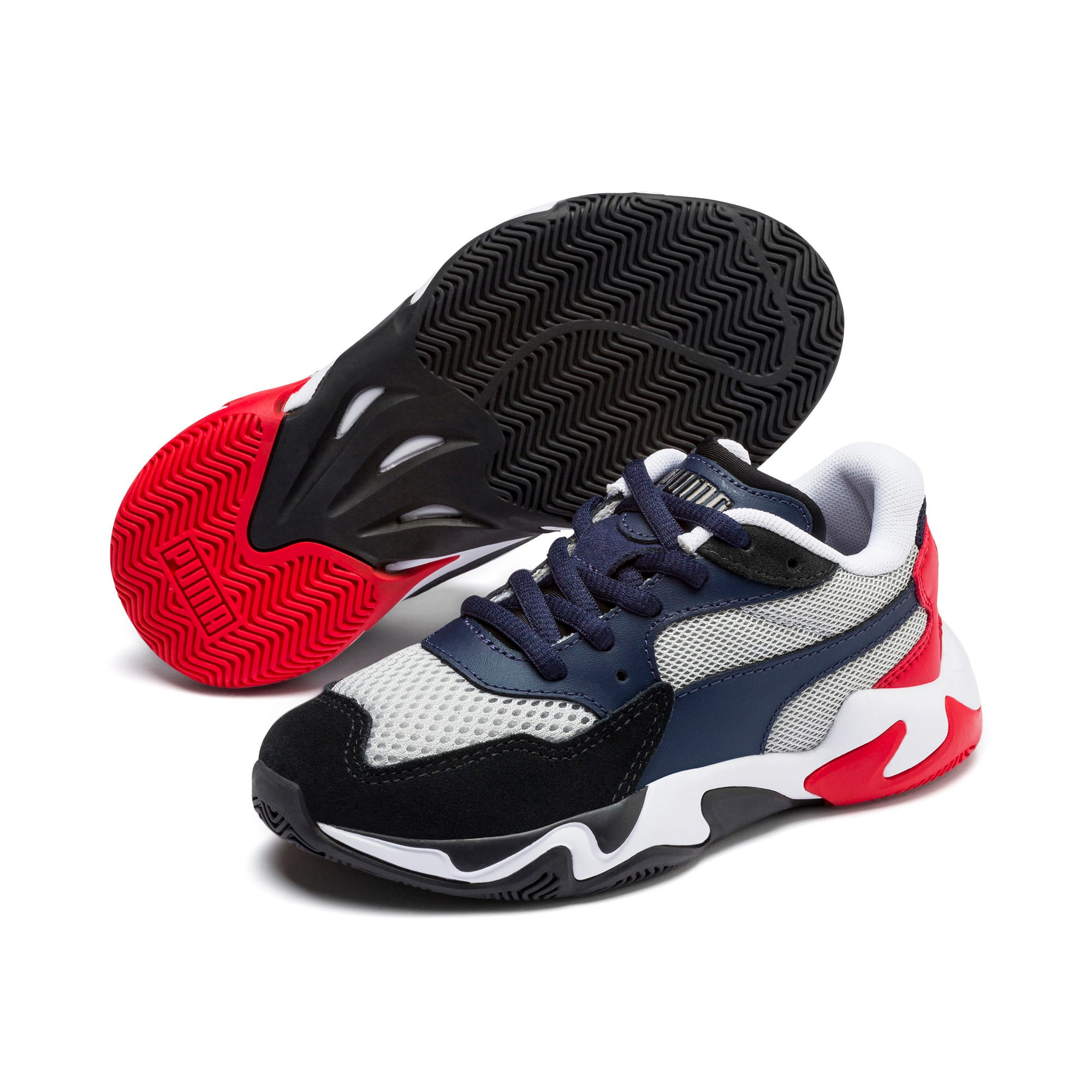 Imagen en miniatura 2 de Zapatillas de niño Storm Origin, Puma Black-High Rise, mediana