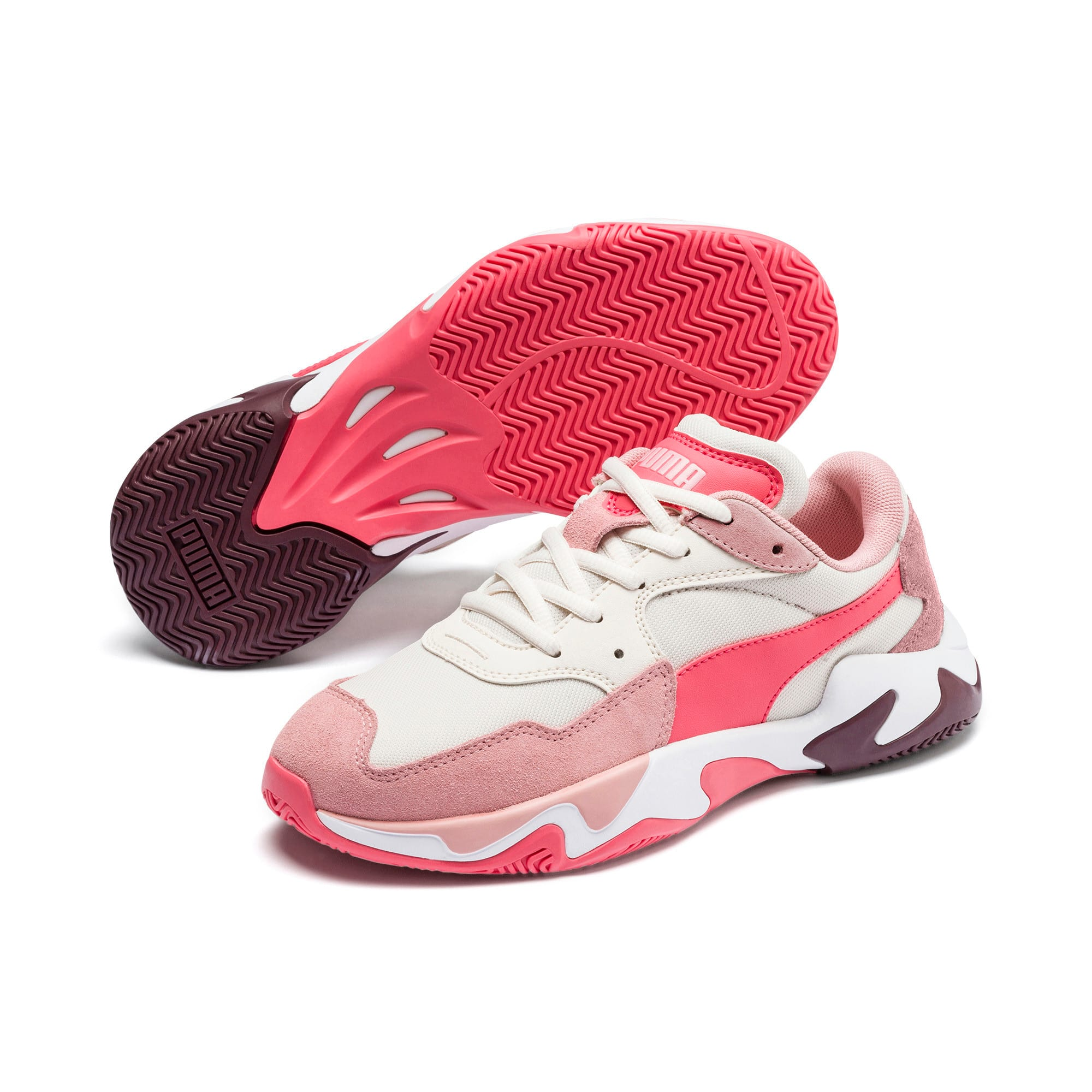 Anteprima 2 di Storm Ray Youth Trainers, Bridal Rose-Pastel Parchment, medio