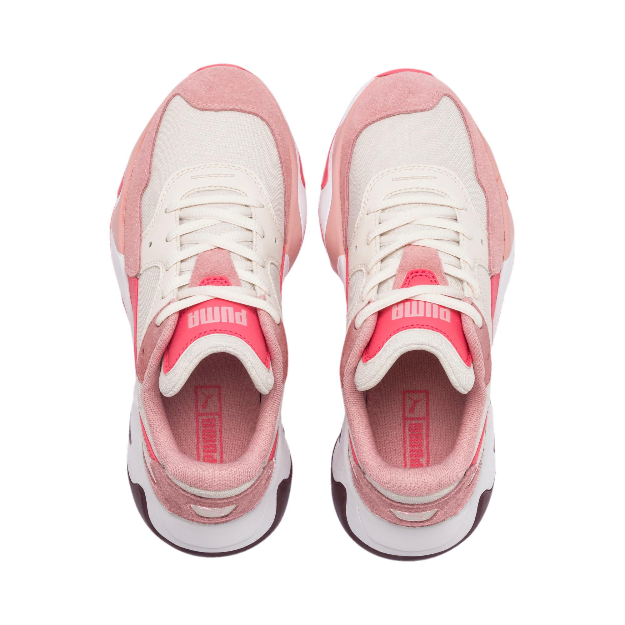 Anteprima 6 di Storm Ray Youth Trainers, Bridal Rose-Pastel Parchment, medio