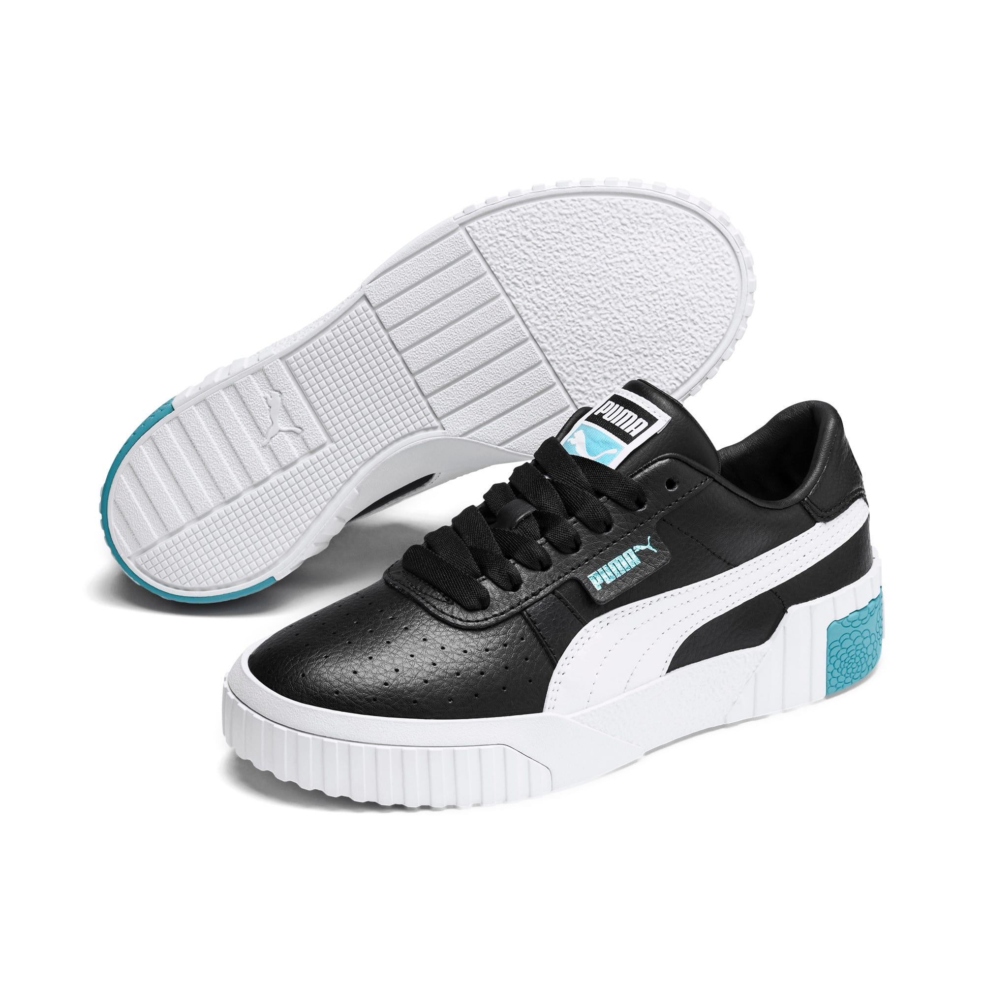 Thumbnail 2 of Cali Youth Trainers, Puma Black-Milky Blue, medium