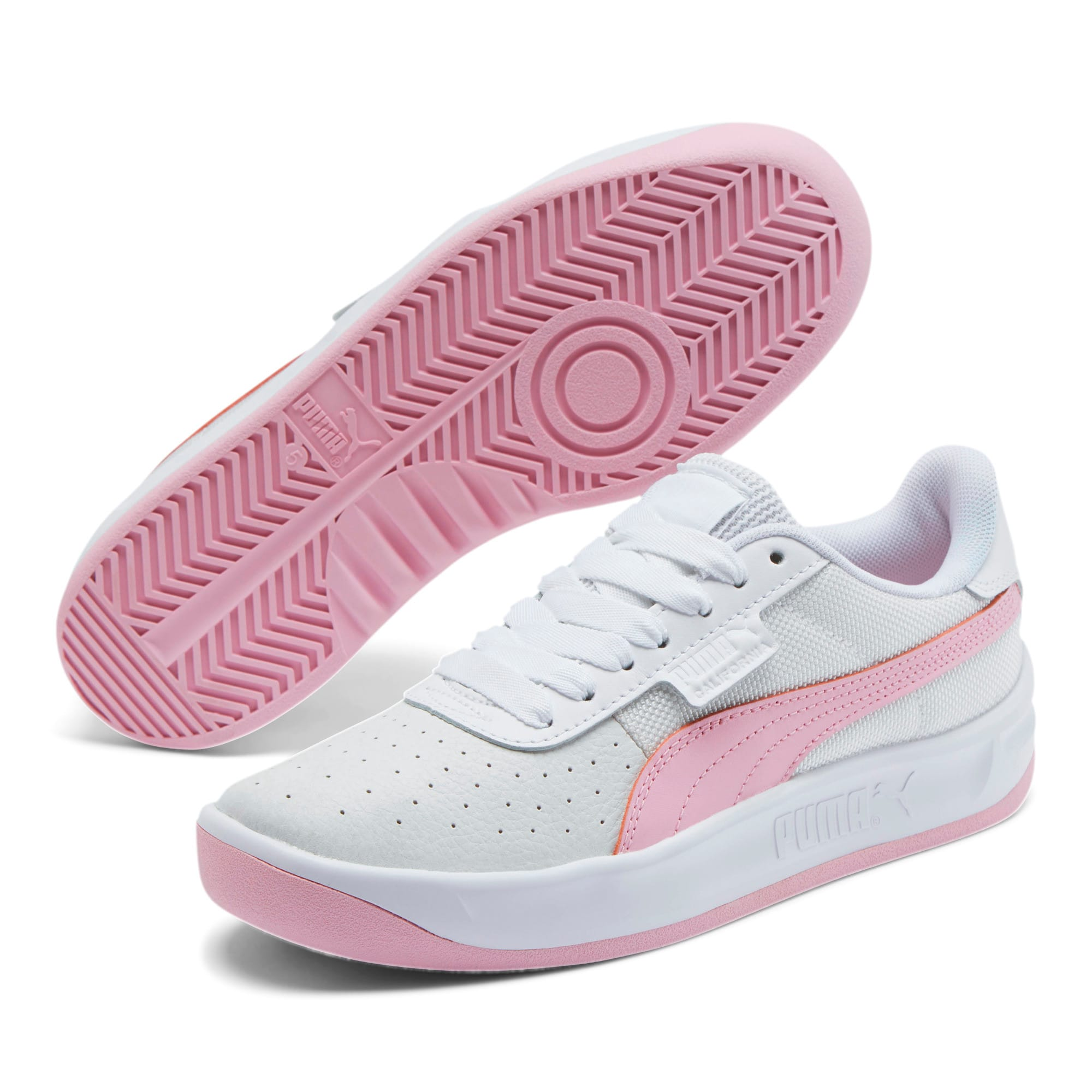 Thumbnail 2 of California Women's Sneakers, Puma Wht-Pale Pink-Puma Wht, medium
