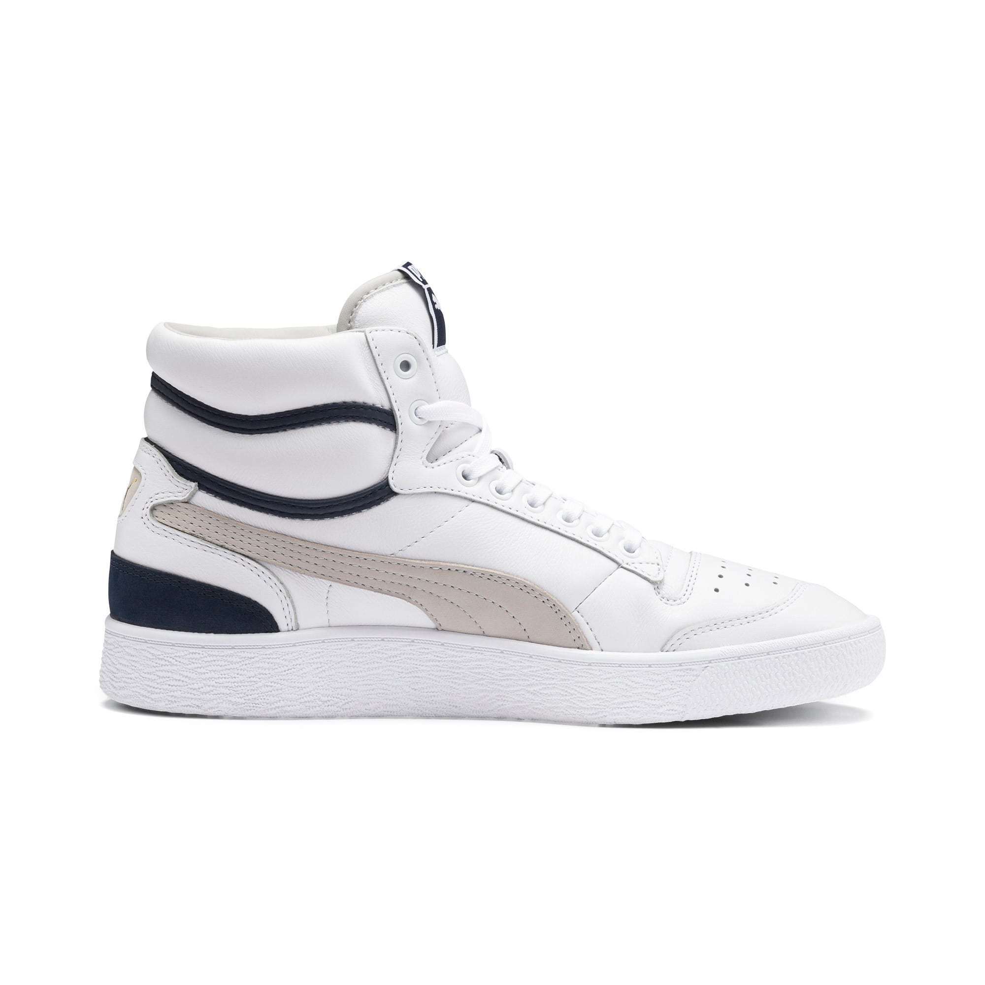 Ralph Sampson Mid OG Trainers, Puma Wht-Gray Violet-Peacoat, large