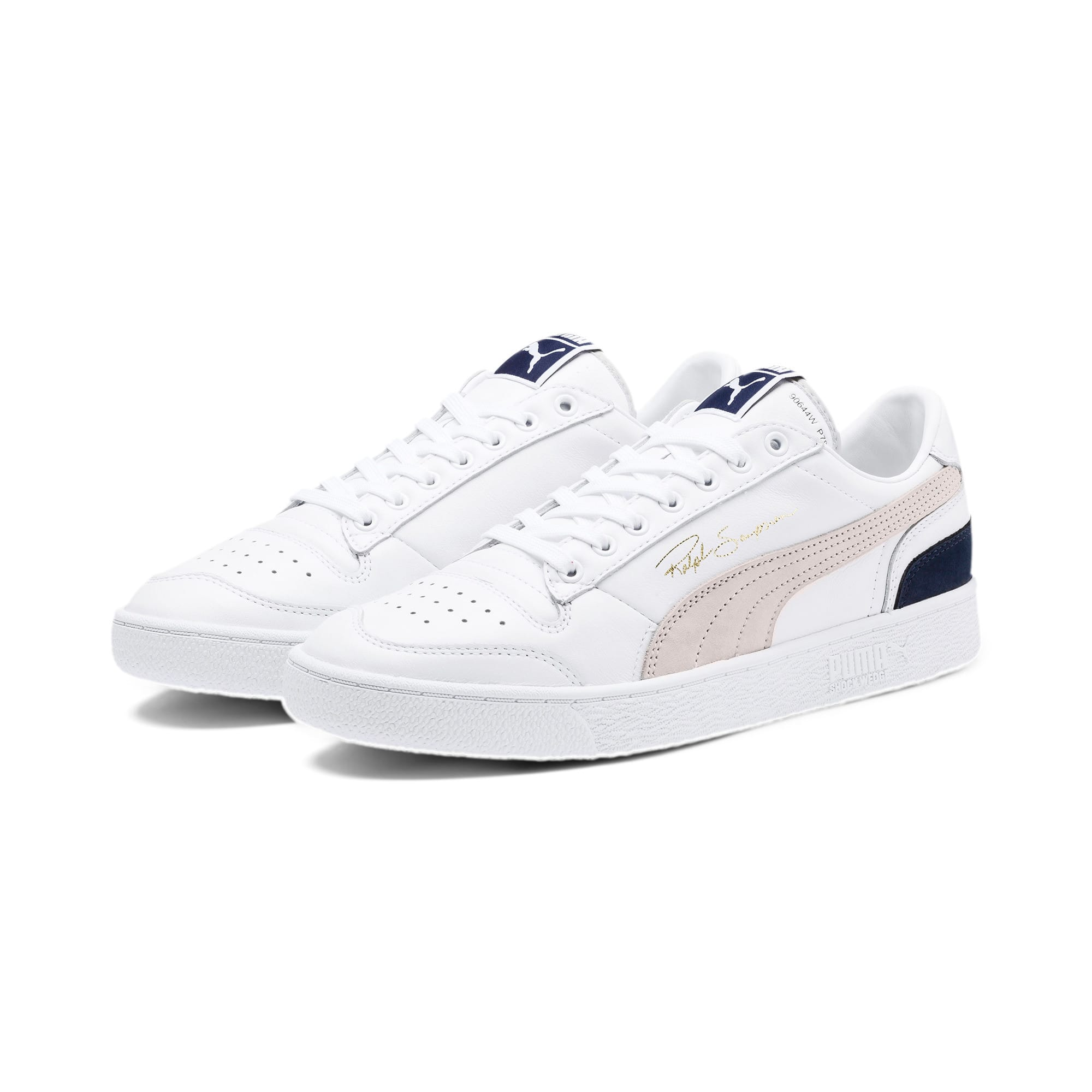 Thumbnail 3 of Ralph Sampson Low OG Trainers, Puma Wht-Gray Violet-Peacoat, medium