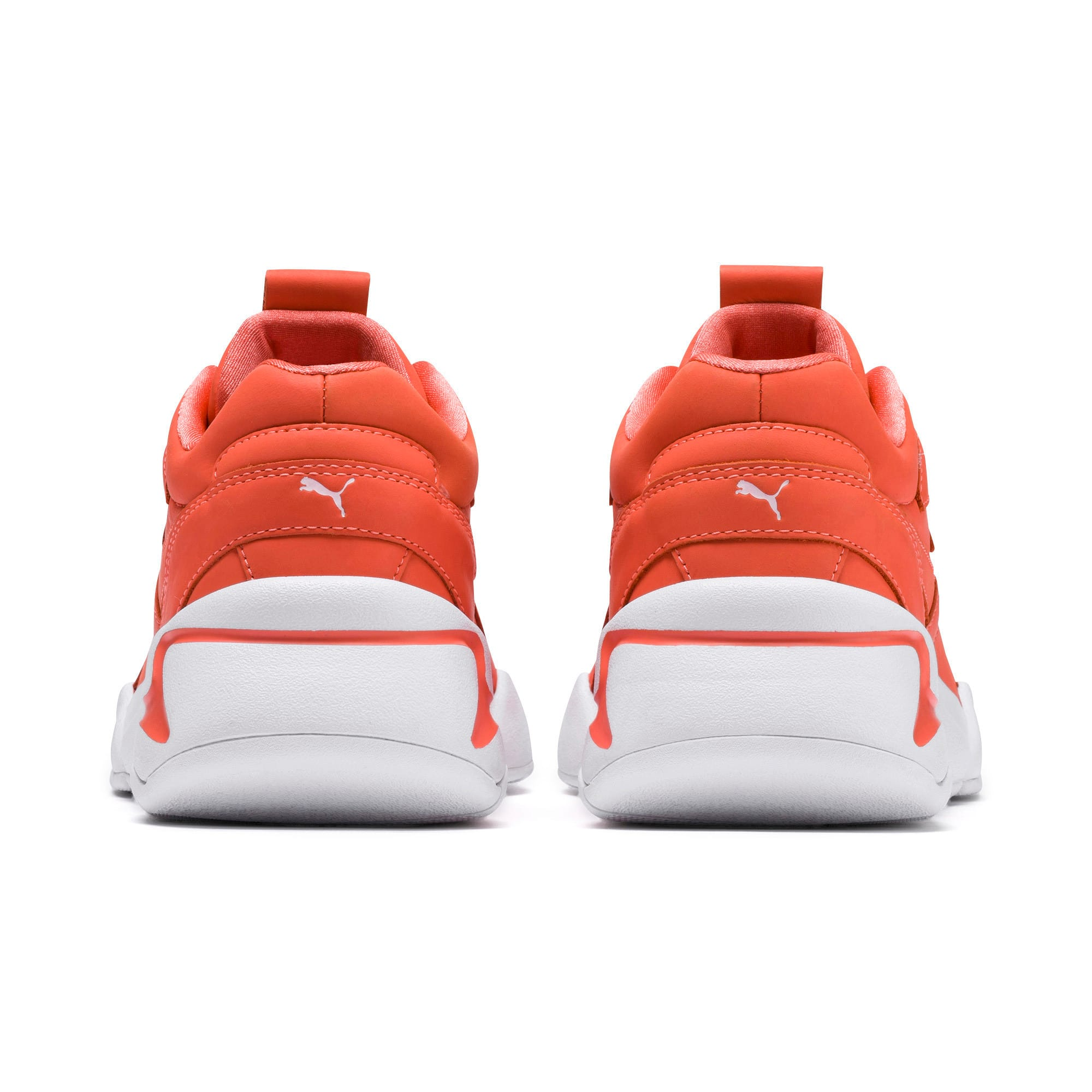 Thumbnail 3 of PUMA x PANTONE Nova Women's Trainers, Living Coral-Puma White, medium