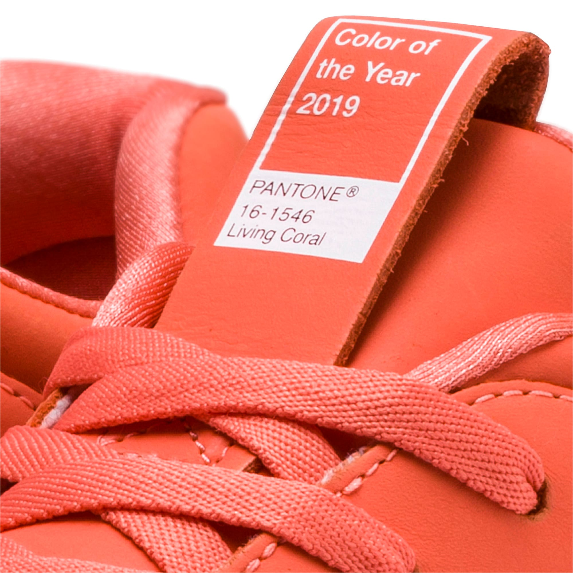 Thumbnail 7 of PUMA x PANTONE Nova Women's Trainers, Living Coral-Puma White, medium